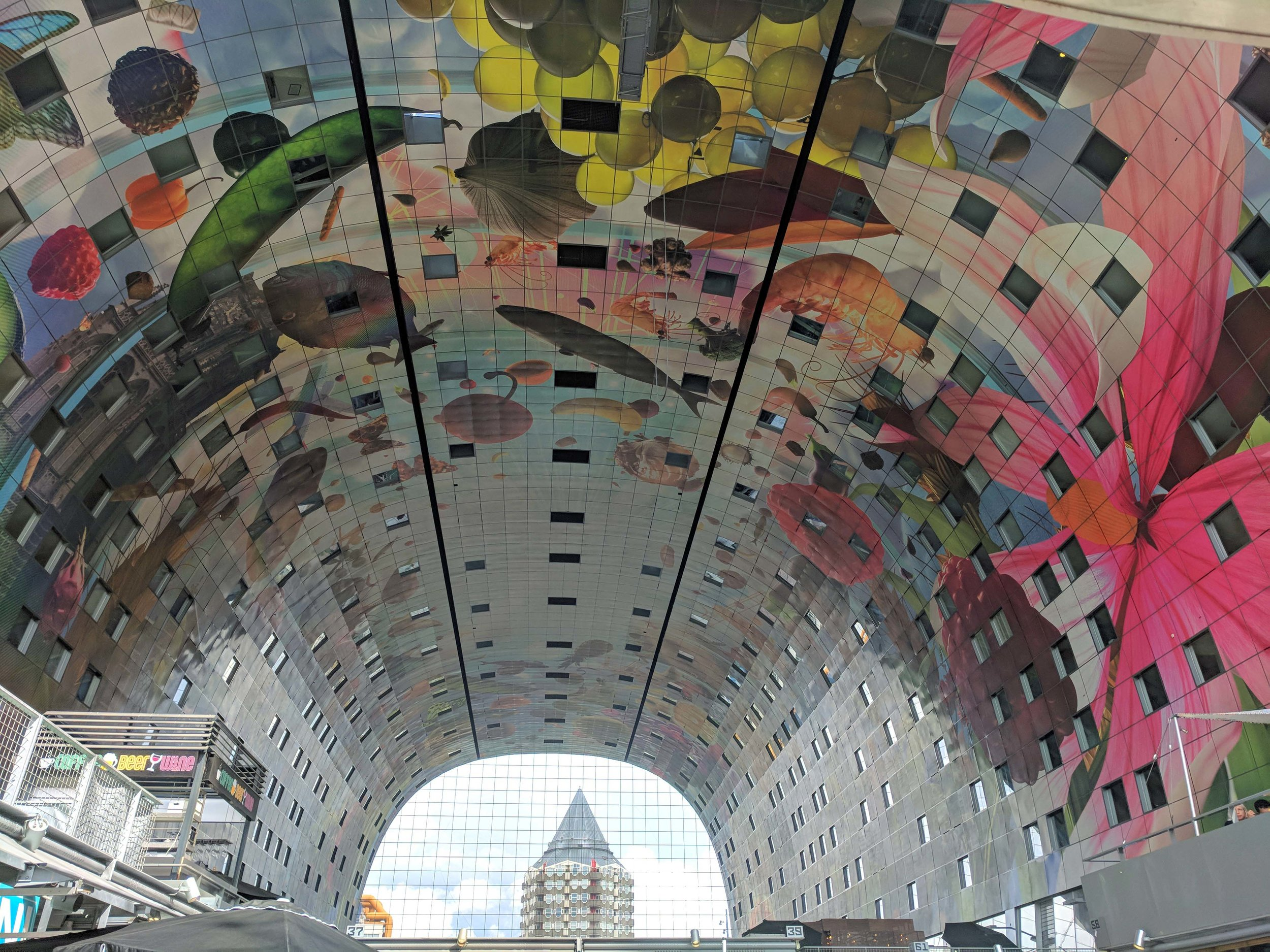 Inside the magnificent Markthal