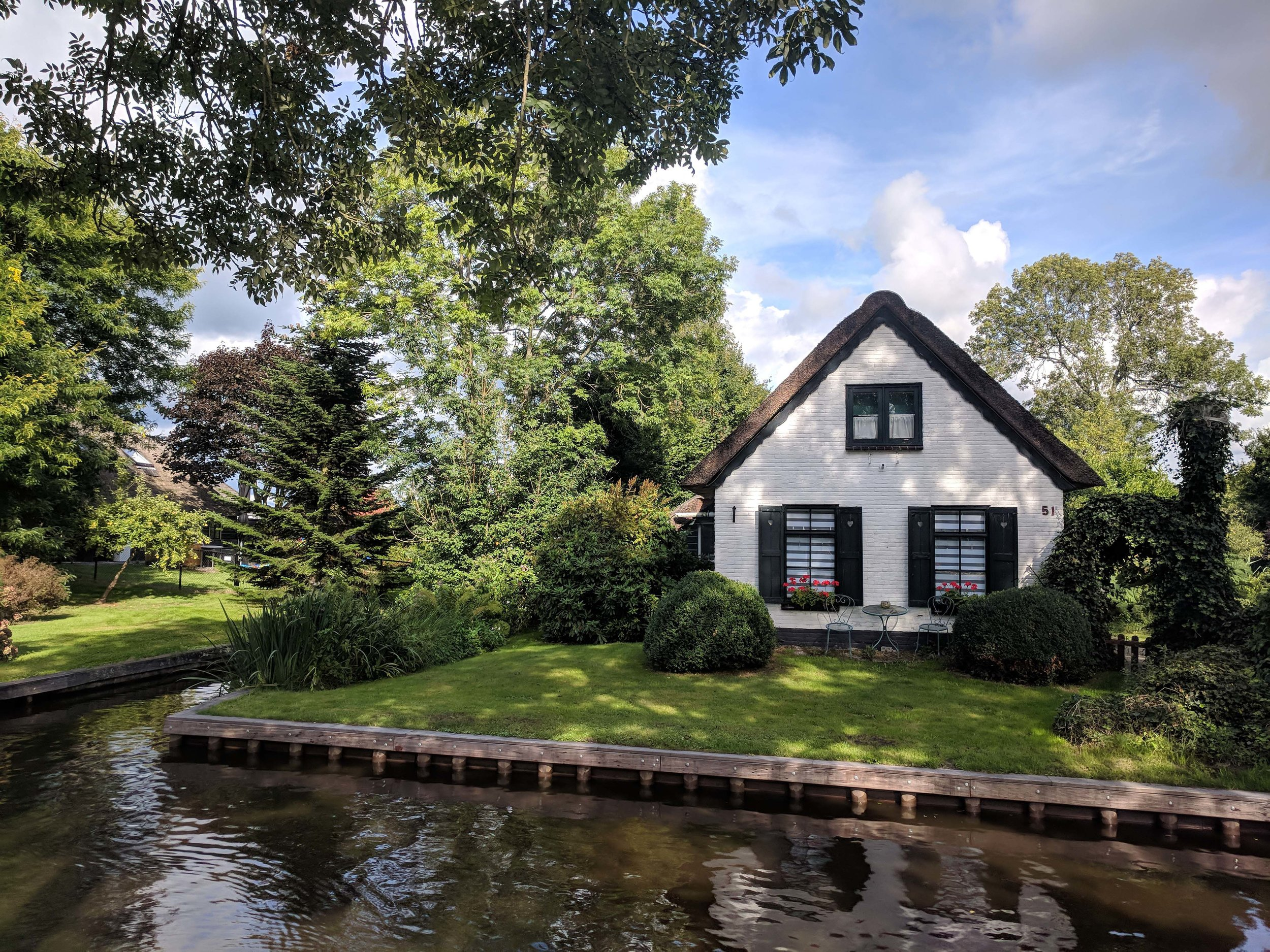 Giethoorn, one of the most scenic places we have stayed so far
