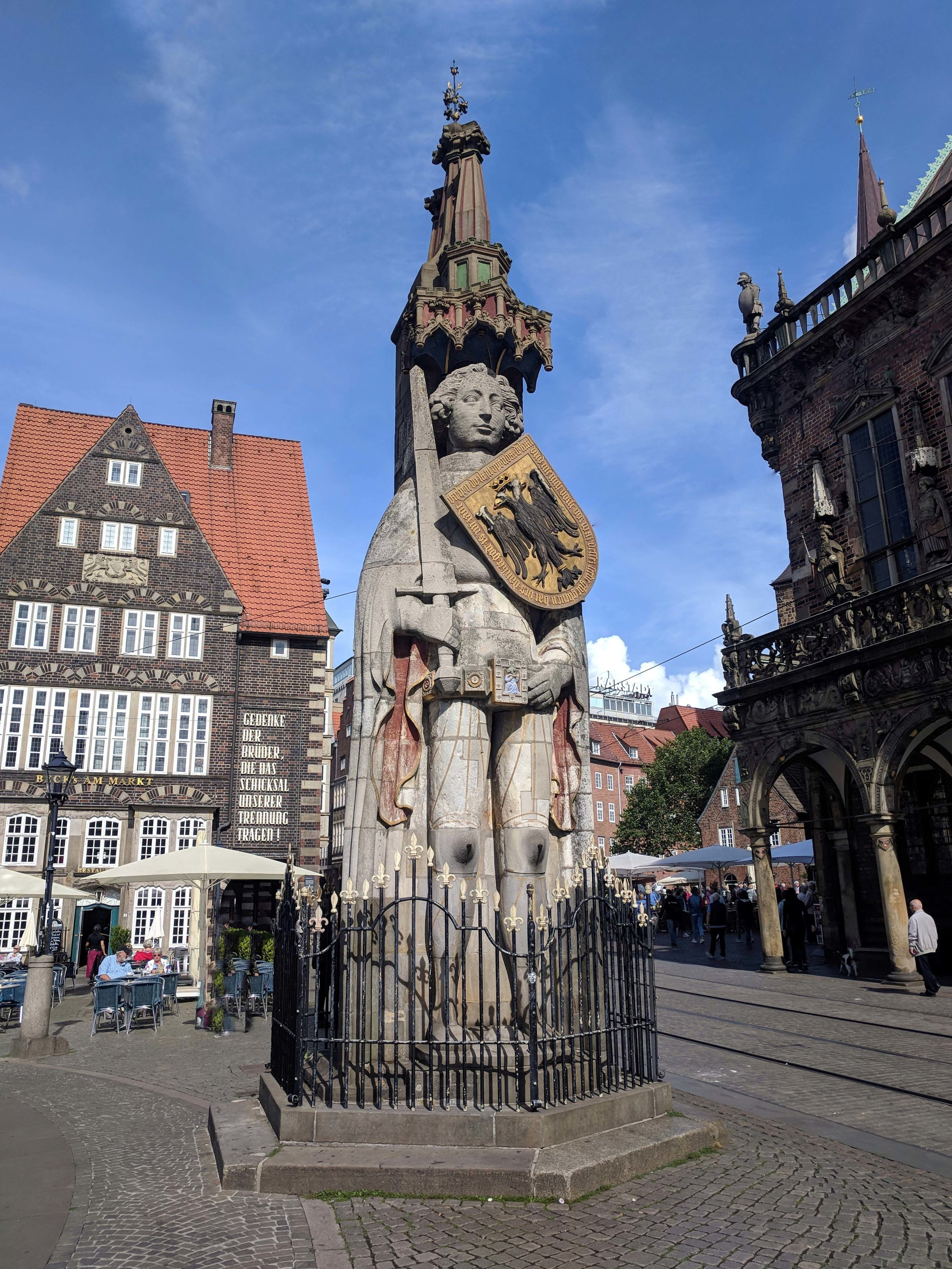 UNESCO listed Roland statue