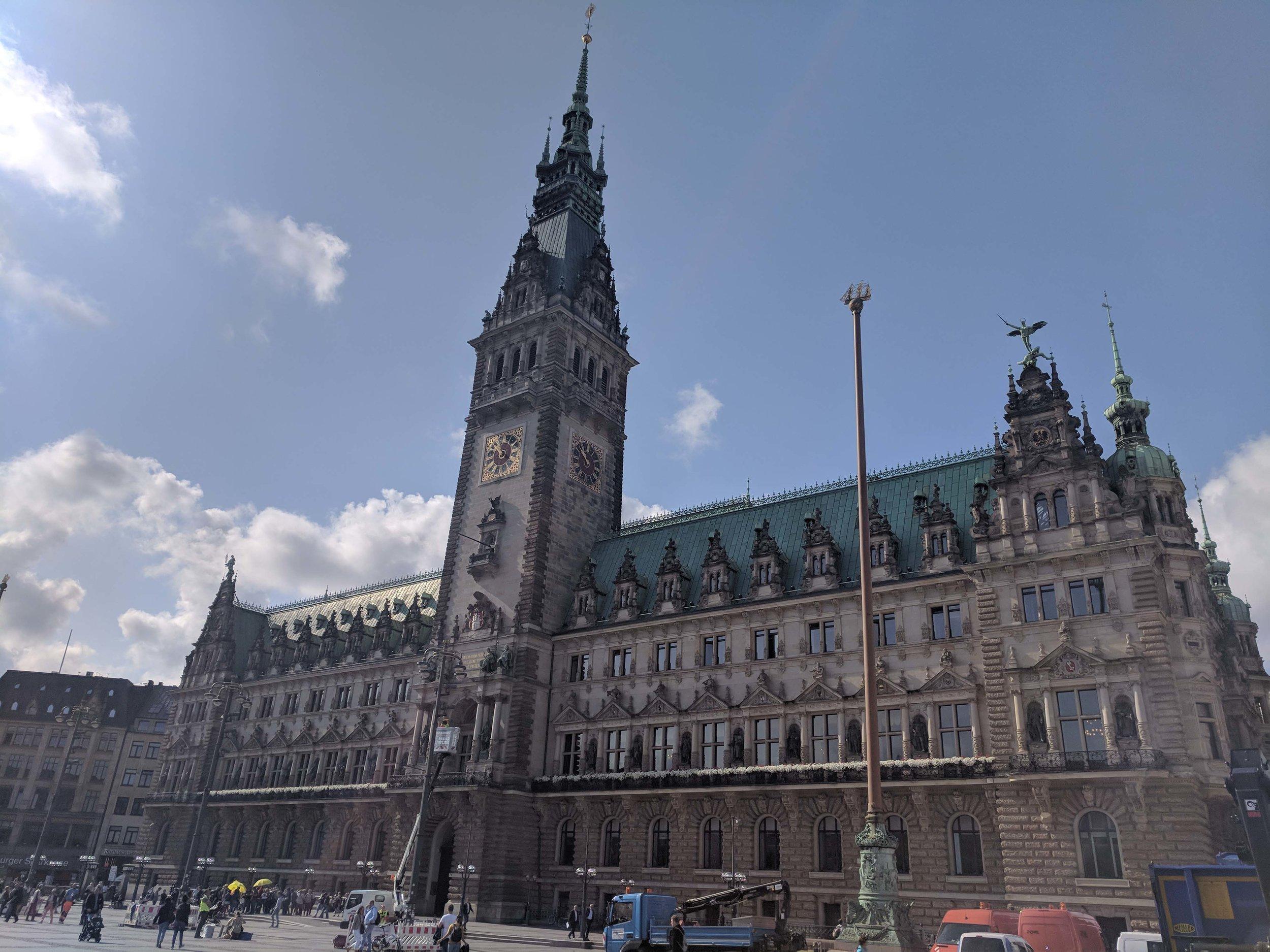 The nicer parts of Hamburg - The Rathaus