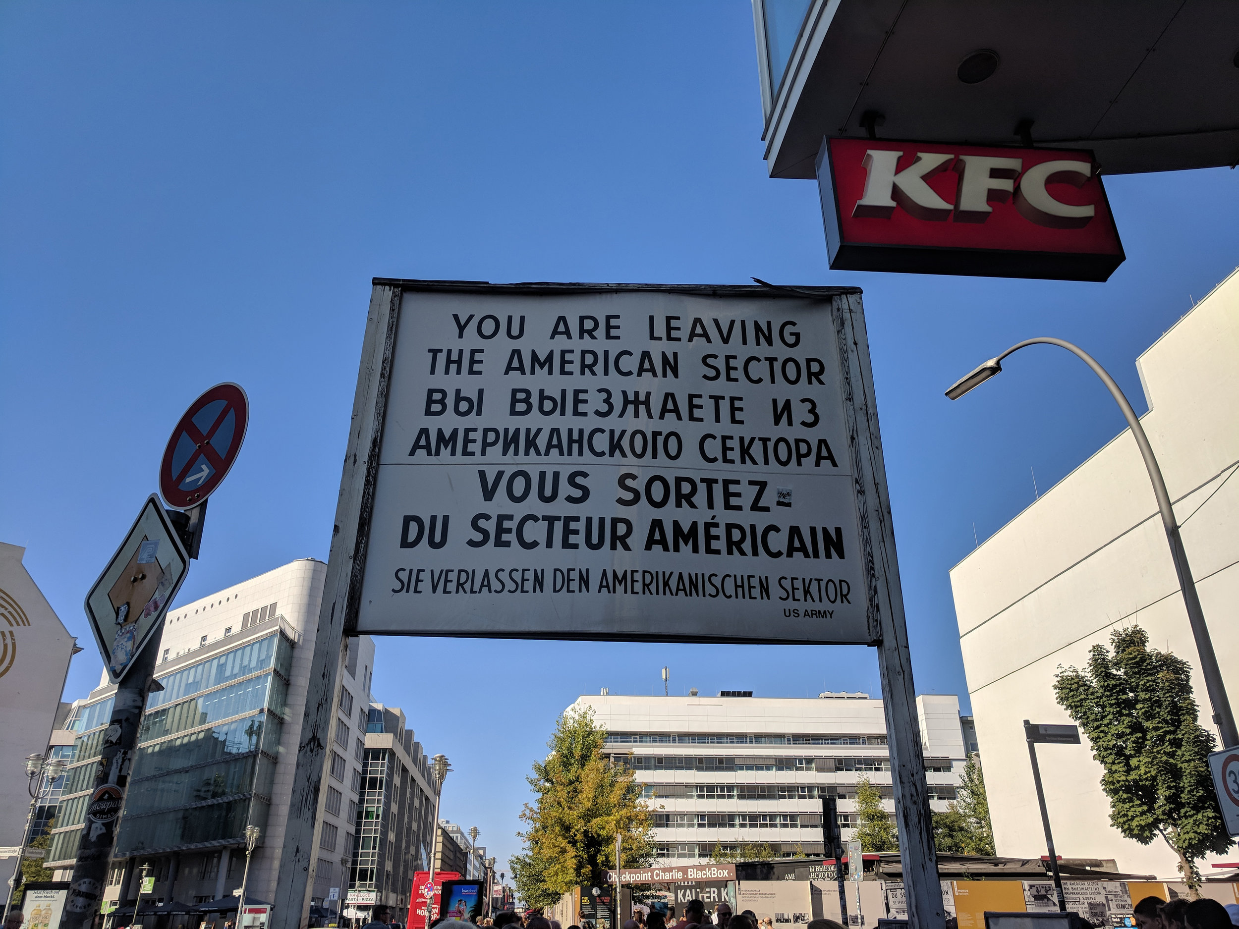 We had to visit Checkpoint Charlie