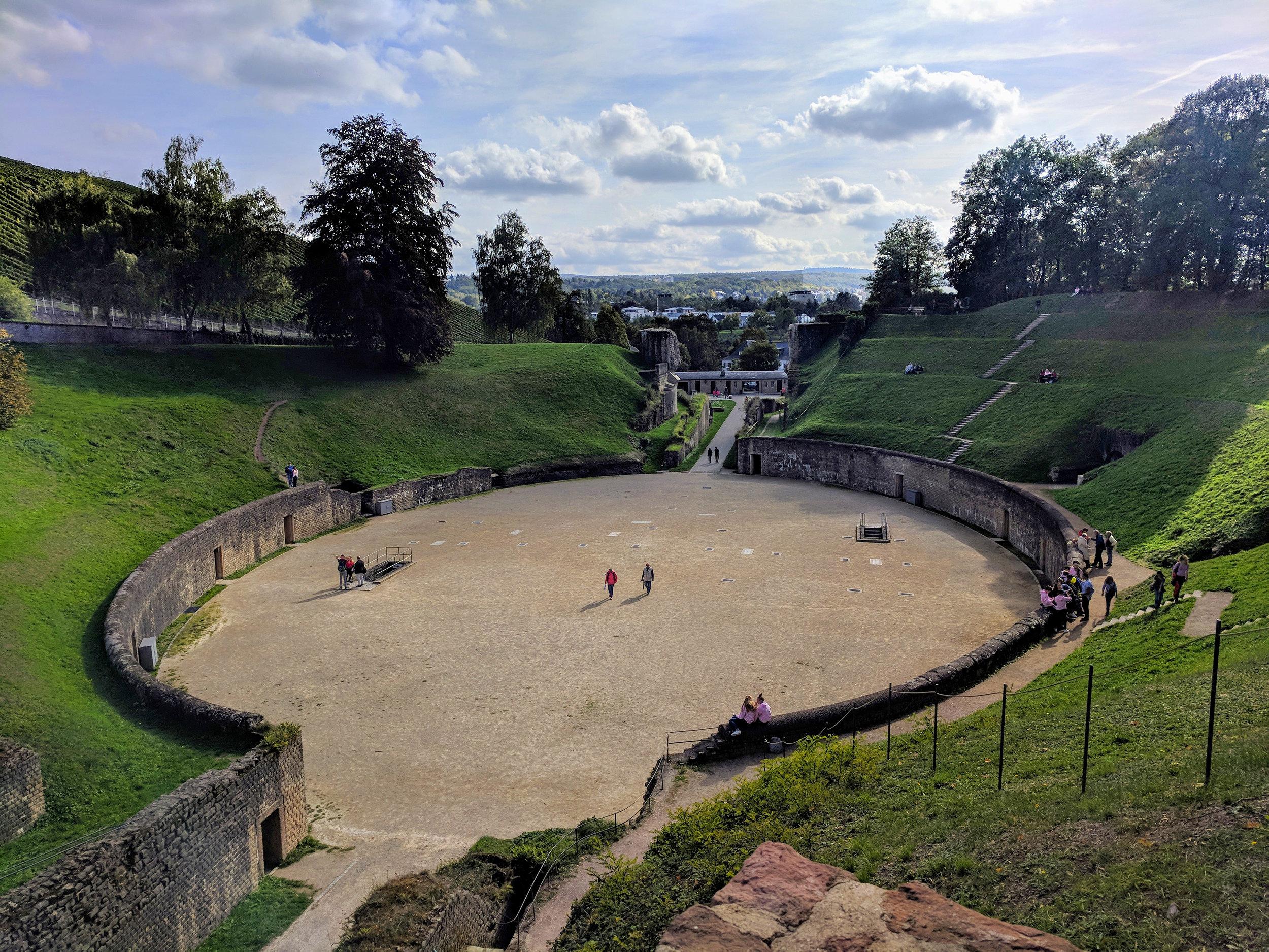 The Roman Amphitheater in Trier