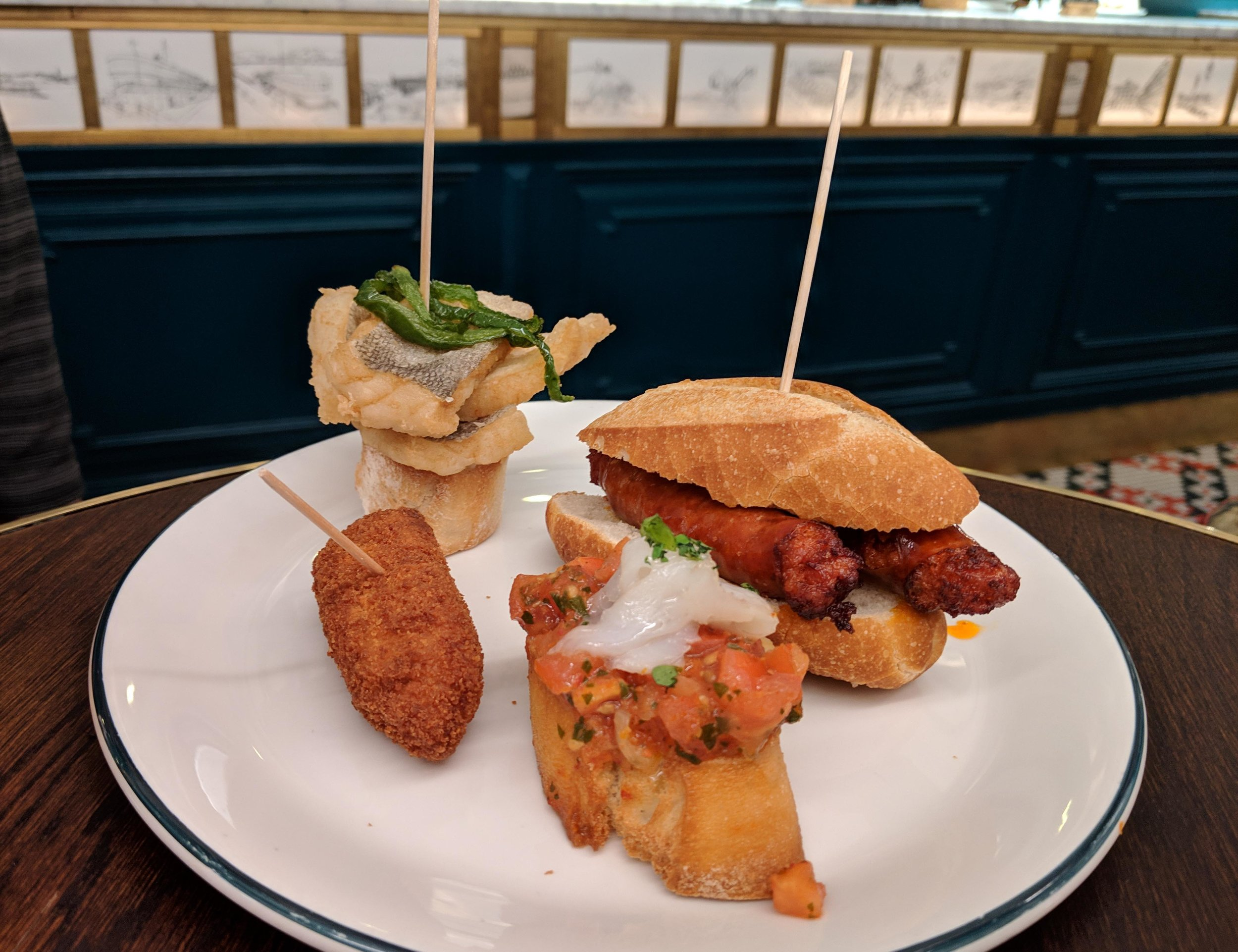 Just a little sampling of the pintxos tried
