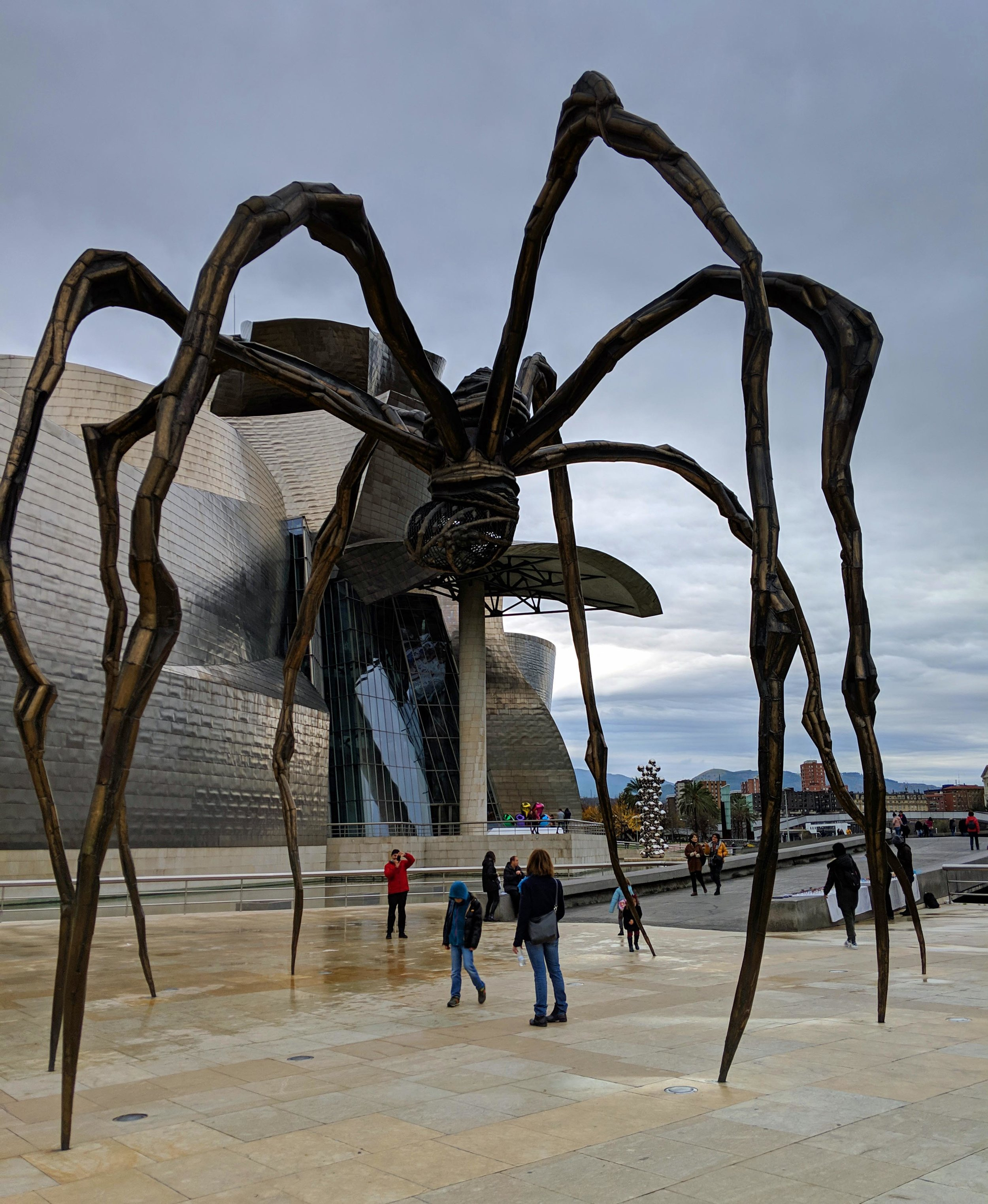Not all the amazing art is inside the Guggenheim