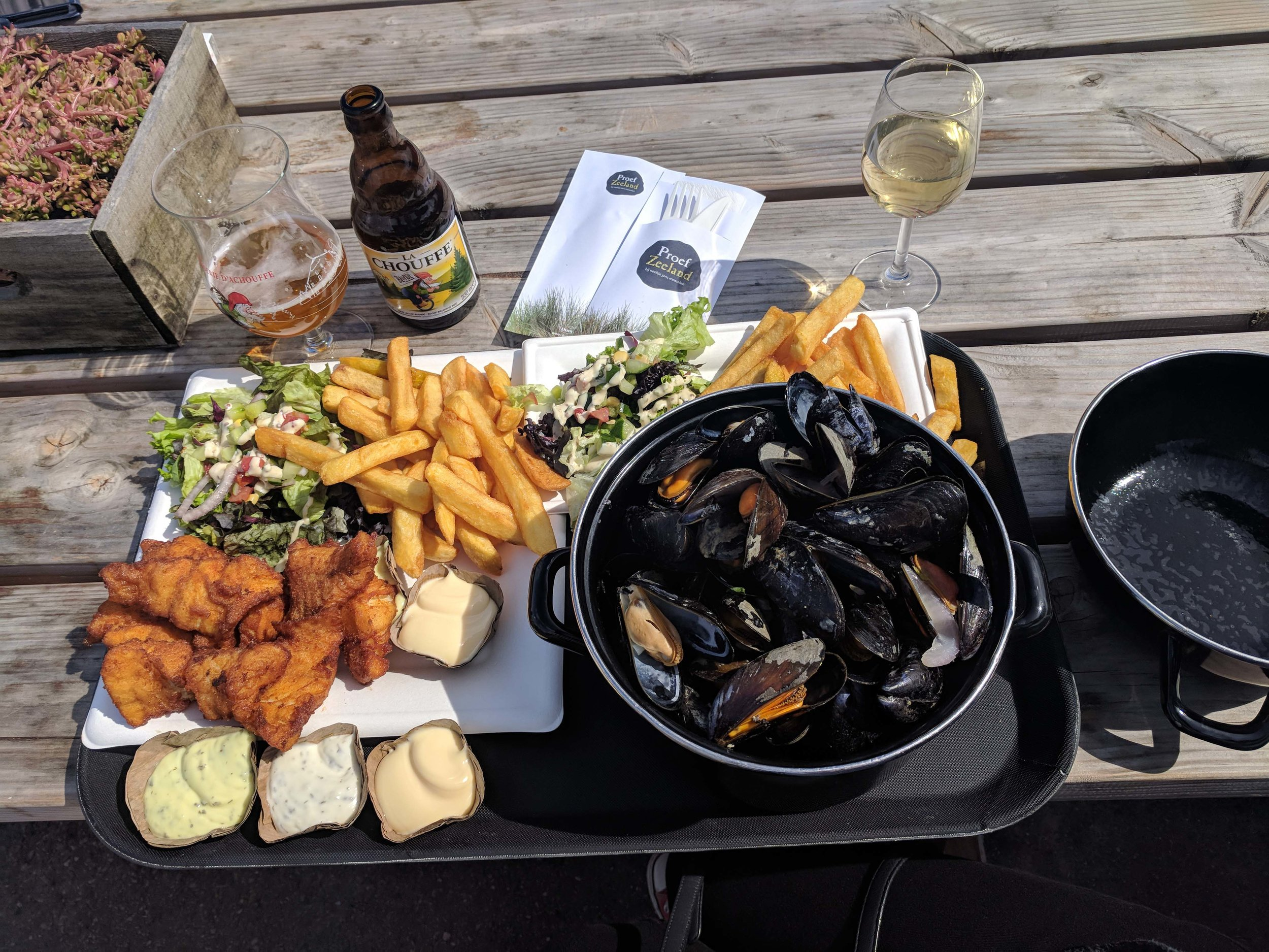 Mussels and Kibbeling in Zeeland