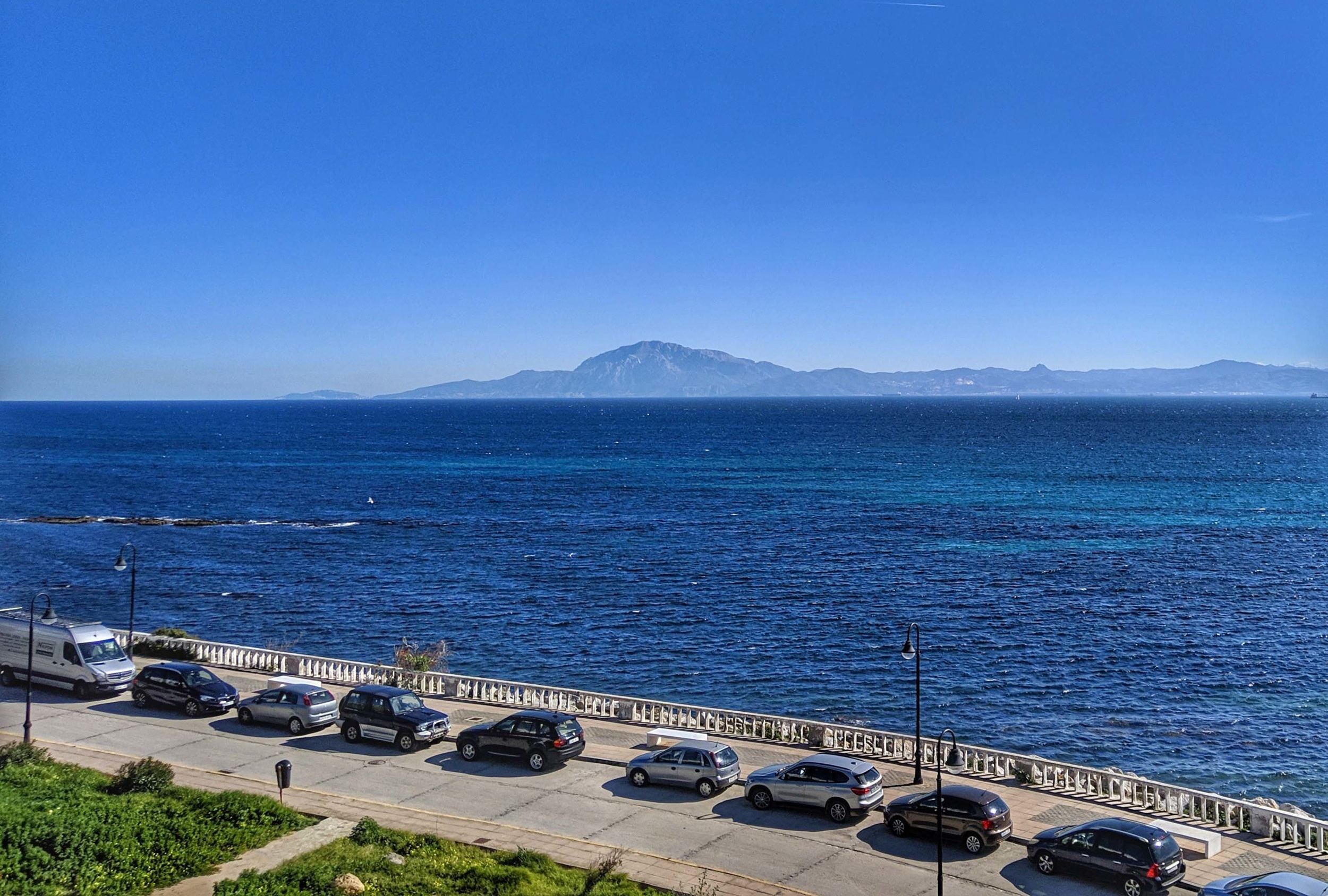 Views over to Africa from Tarifa