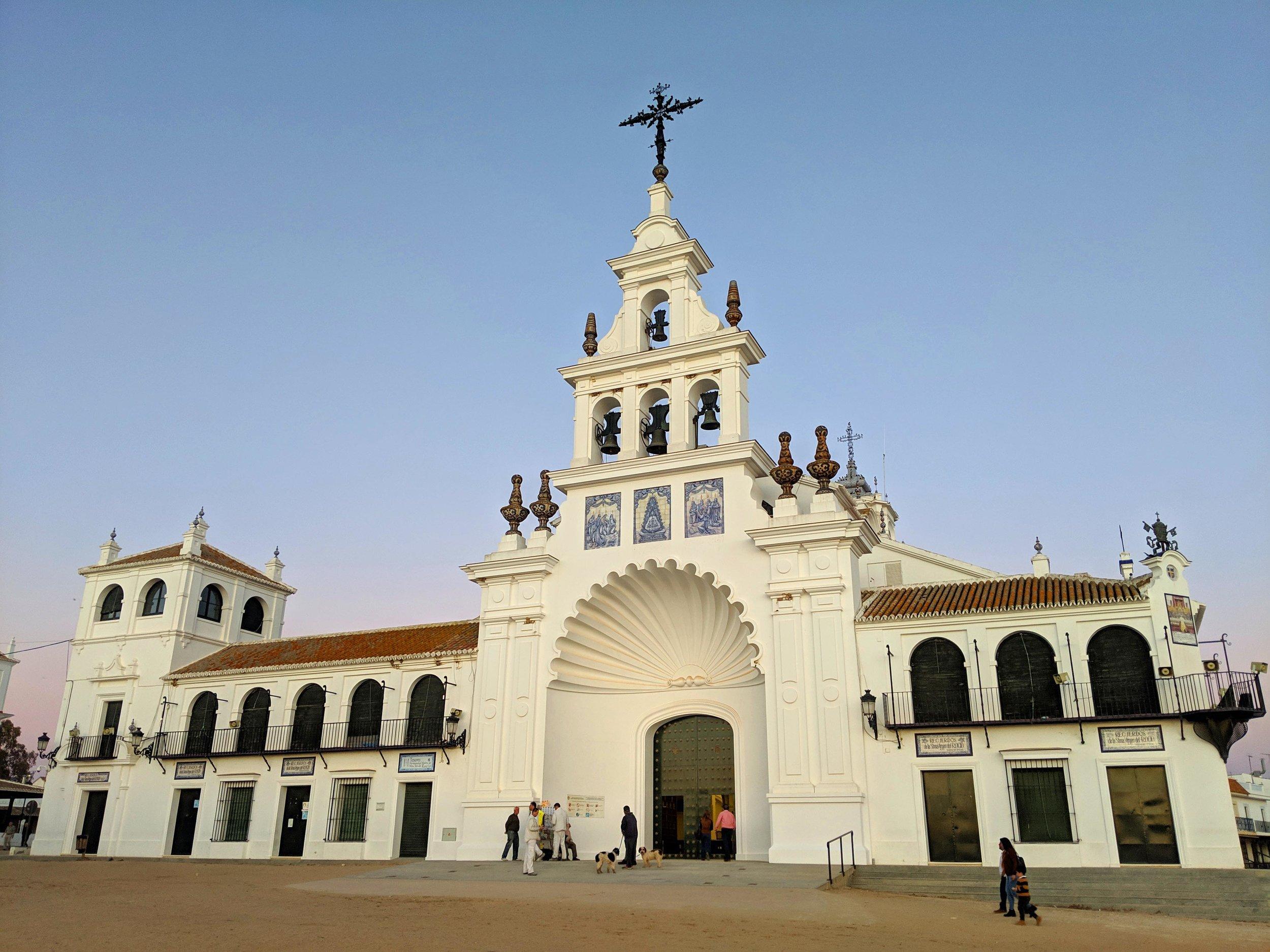 The beautiful Hermitage of El Rocio