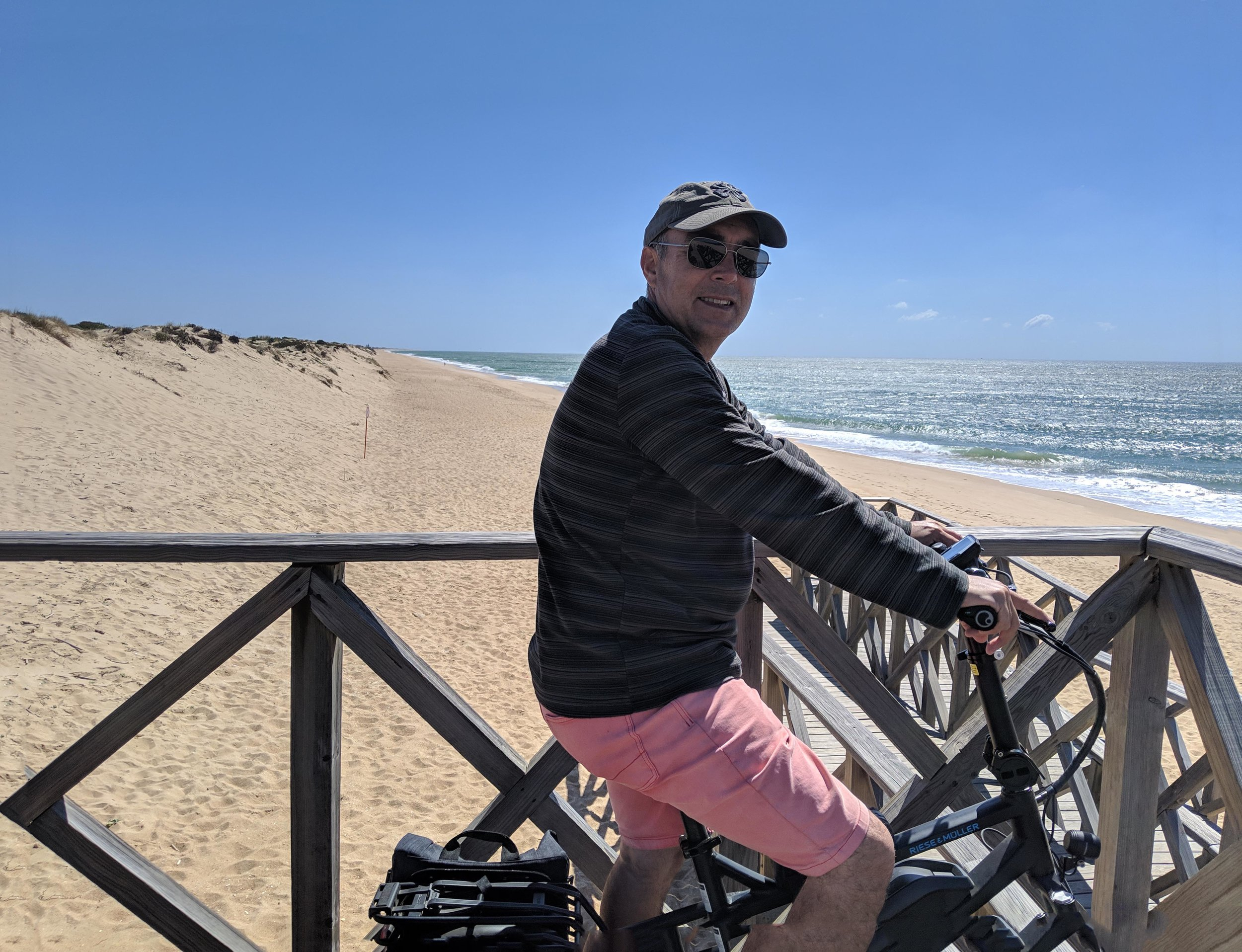 Cycling around the beautiful Ria Formosa
