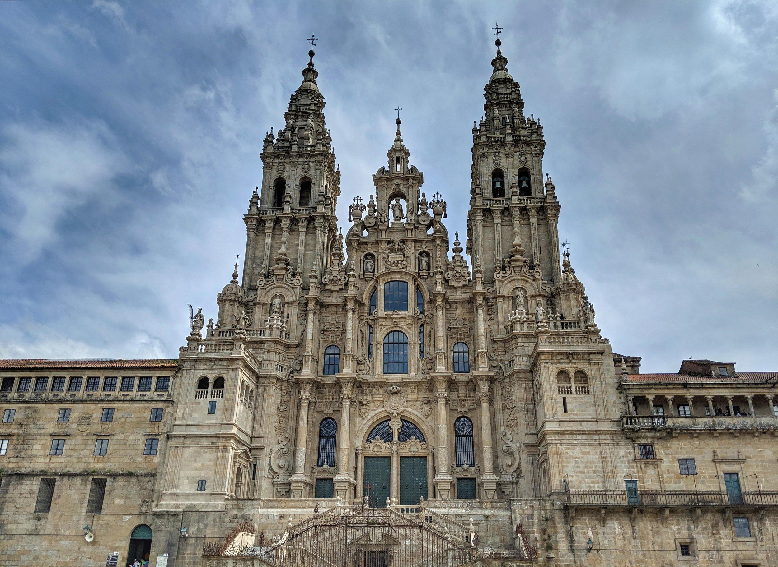 Santiage de Compostela's famous cathedral