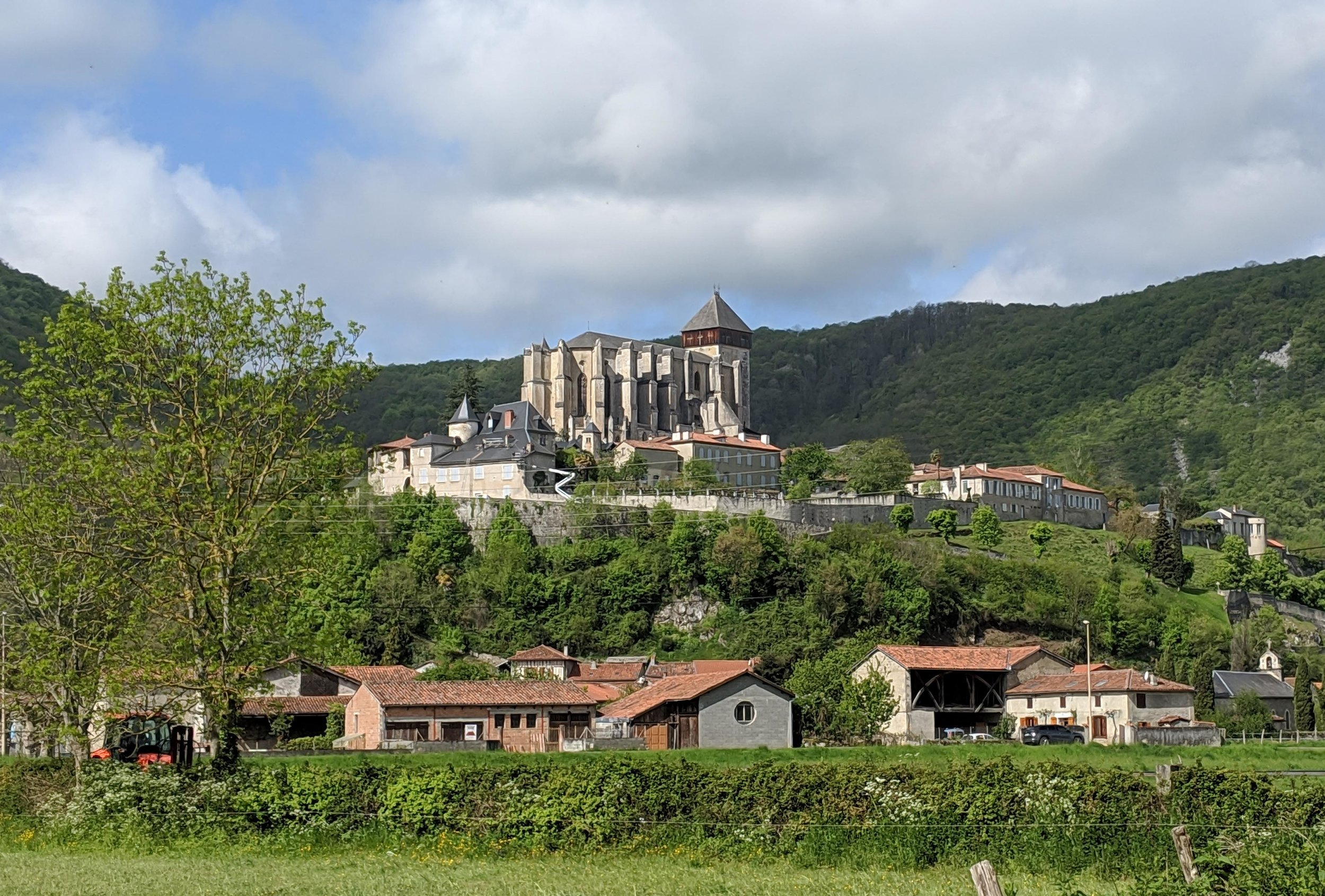View of St Bertrand de Comminges from our campsite