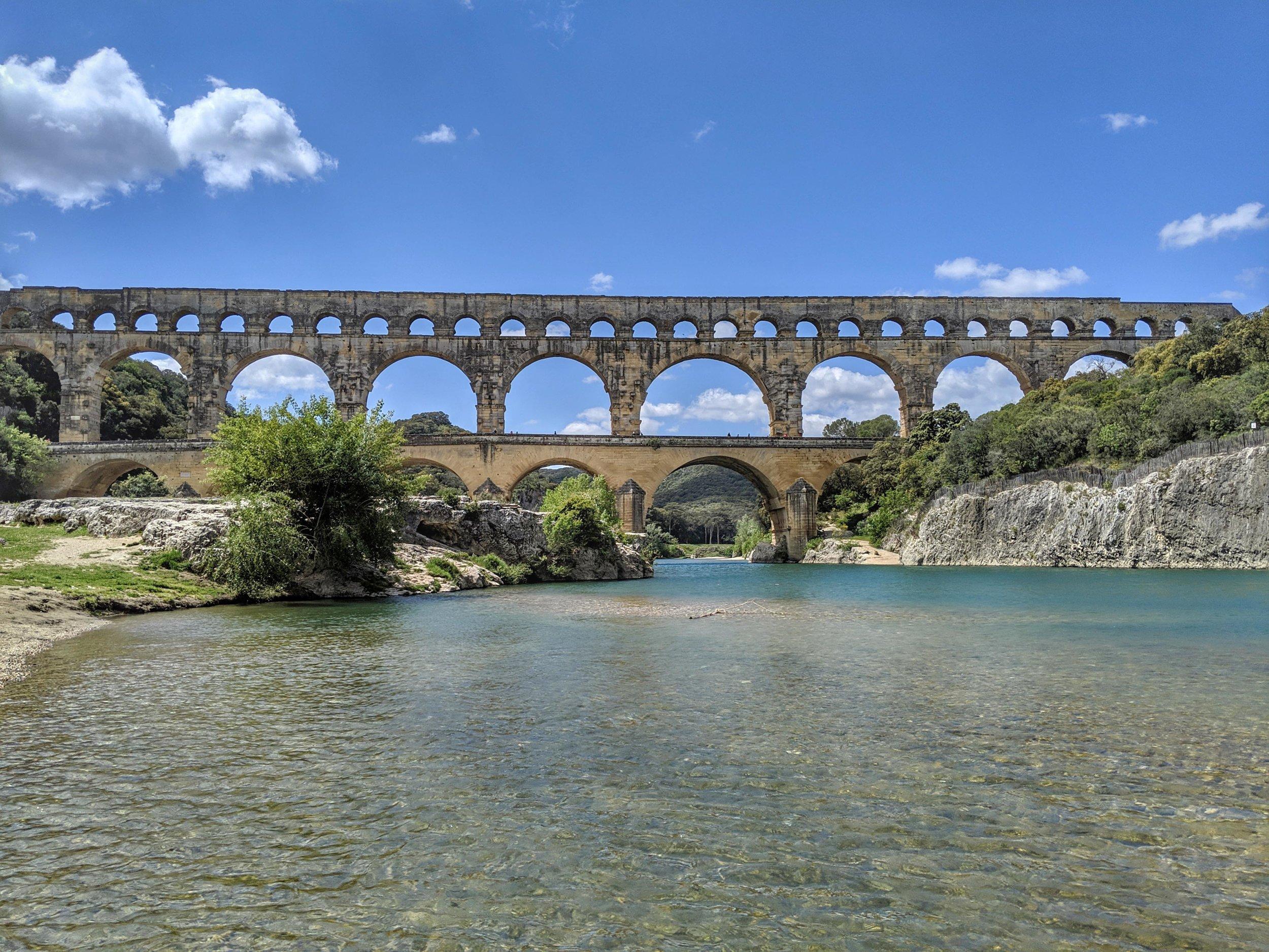 The magnificent Pont du Gard
