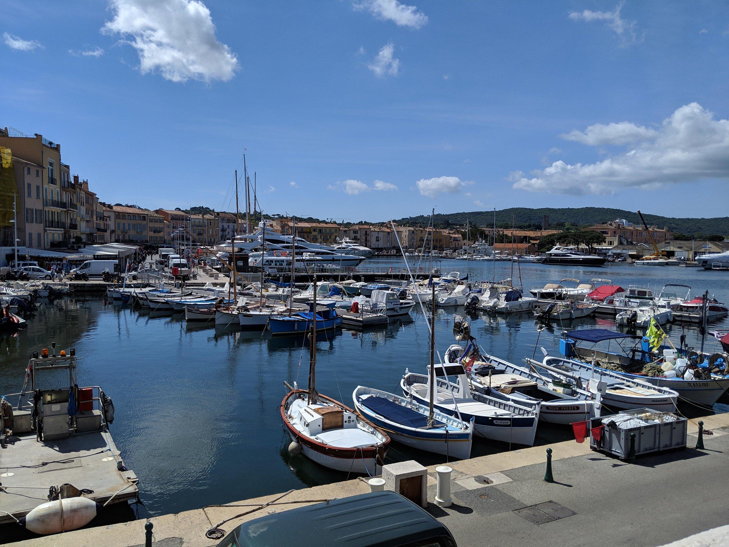 Busy St Tropez harbor