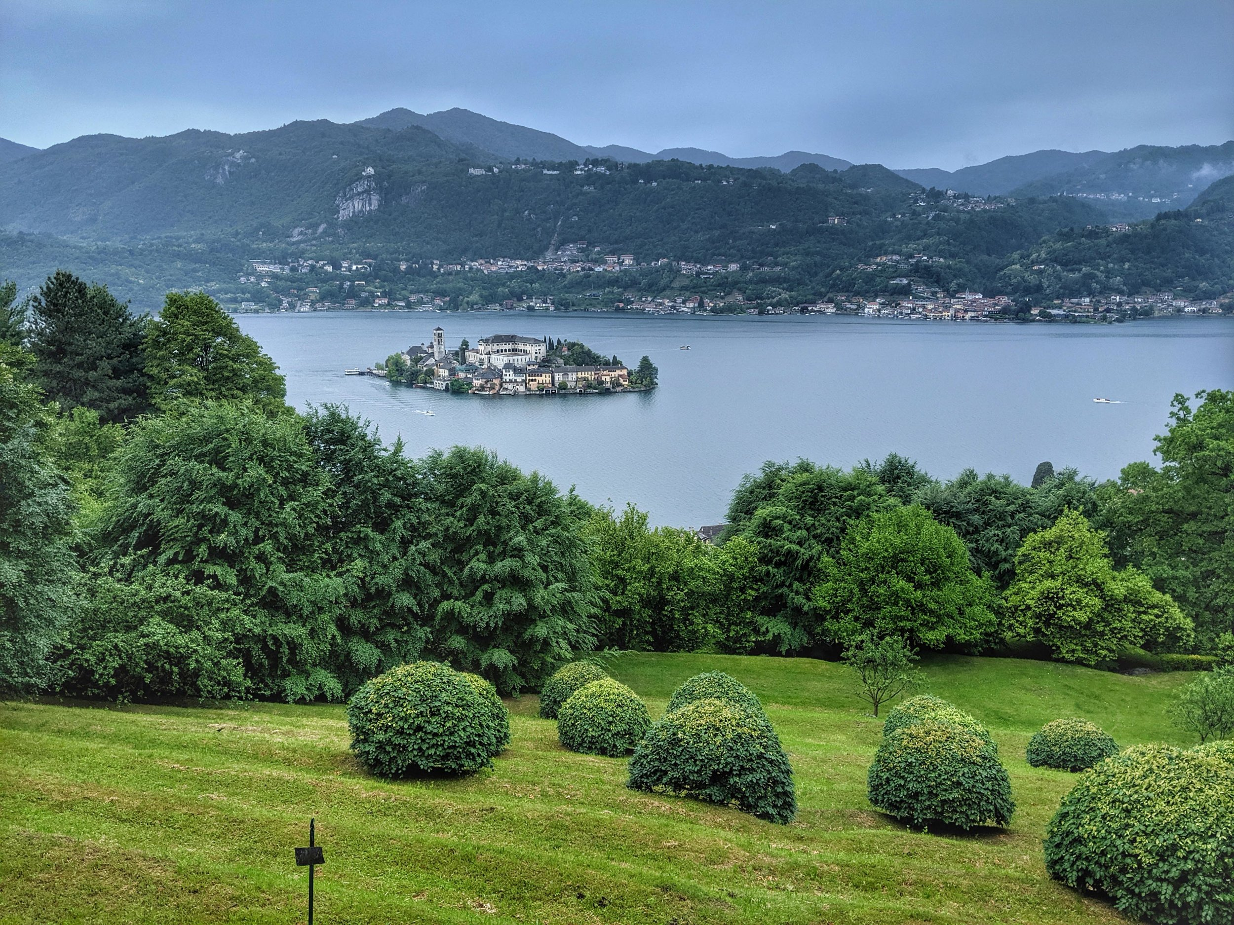 Views from atop of Orta San Guilio