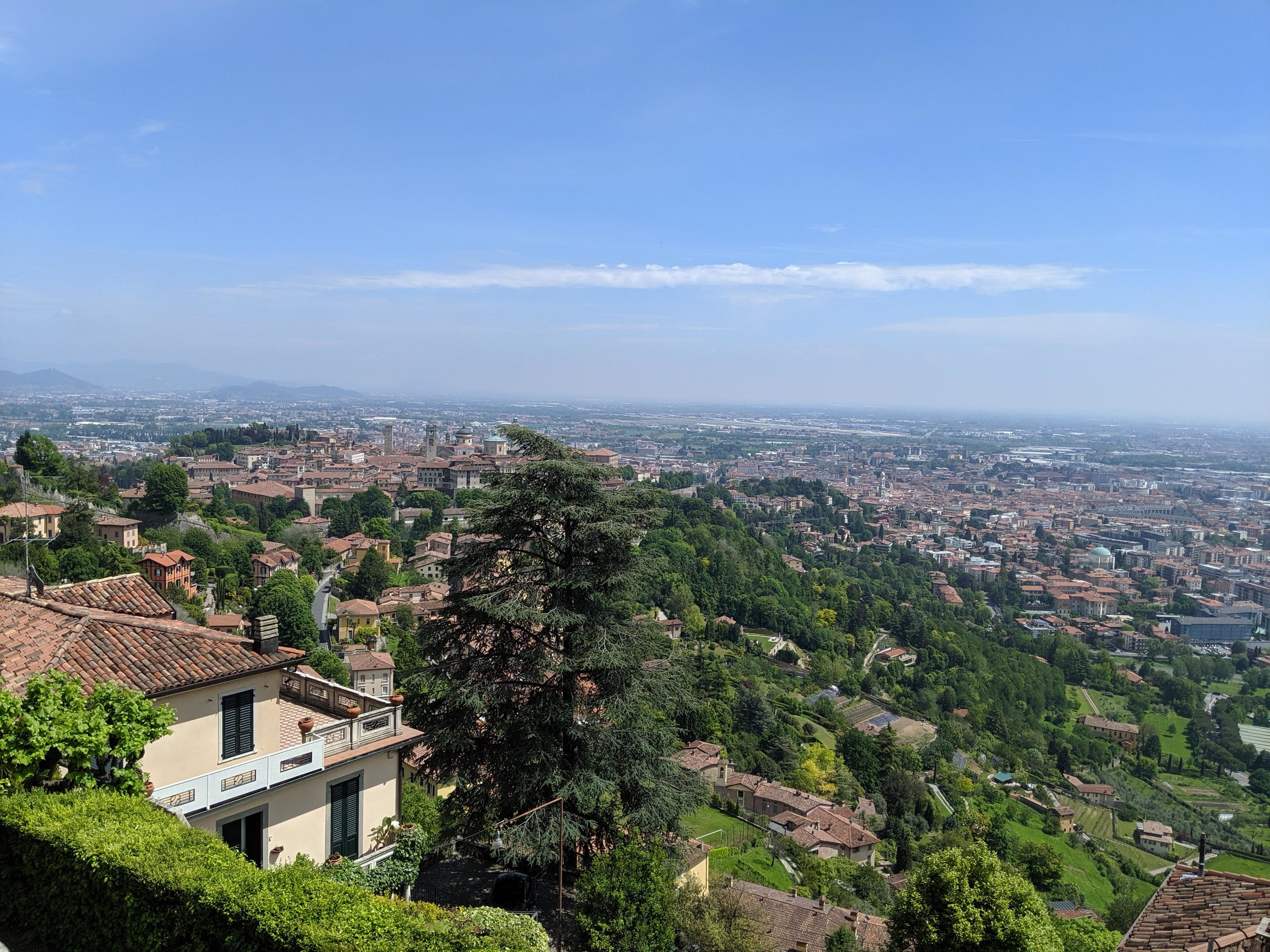 Views from top of Bergamo