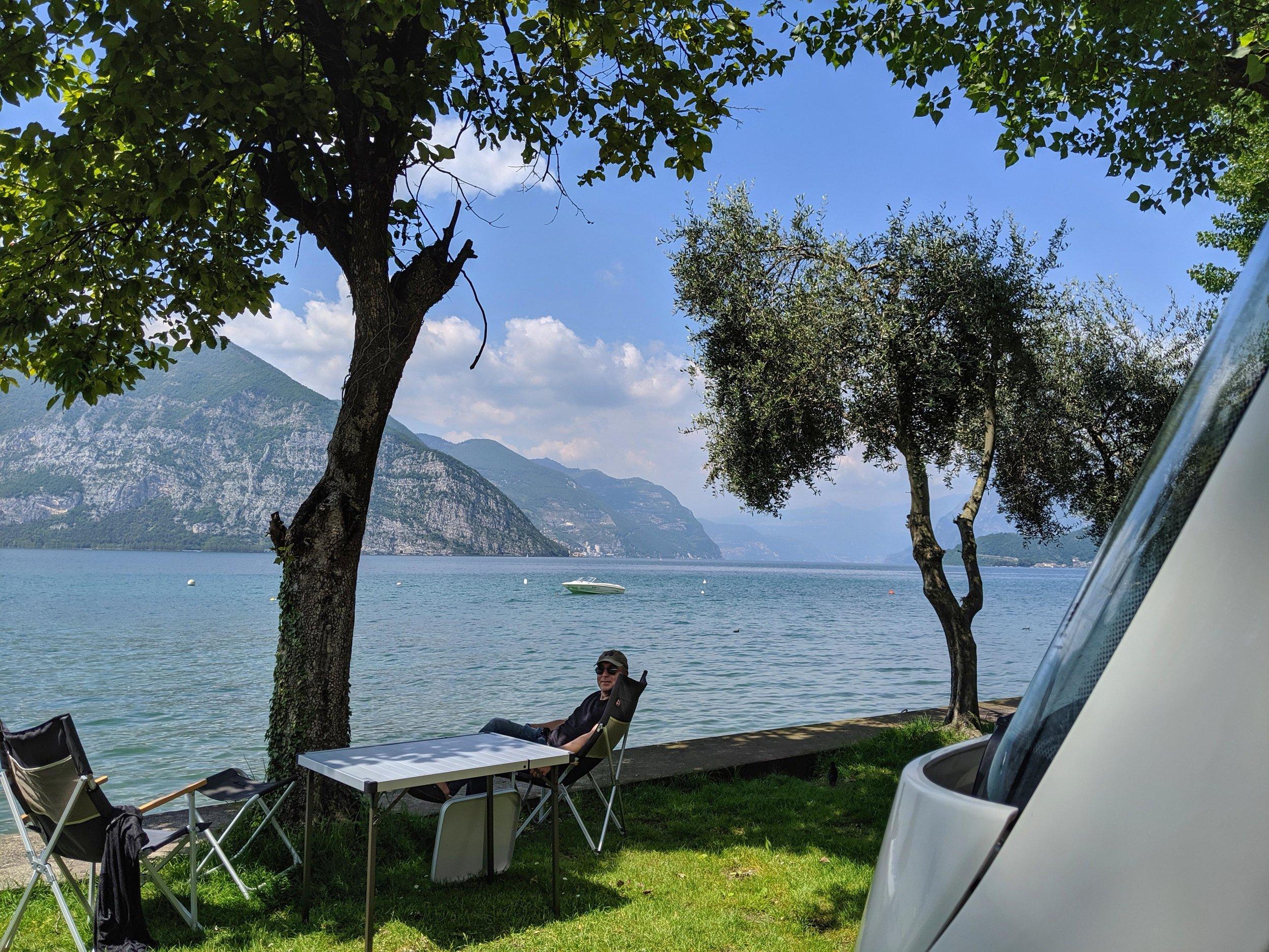 Sweet lakeside camping at Camping Covelo on Lake Iseo