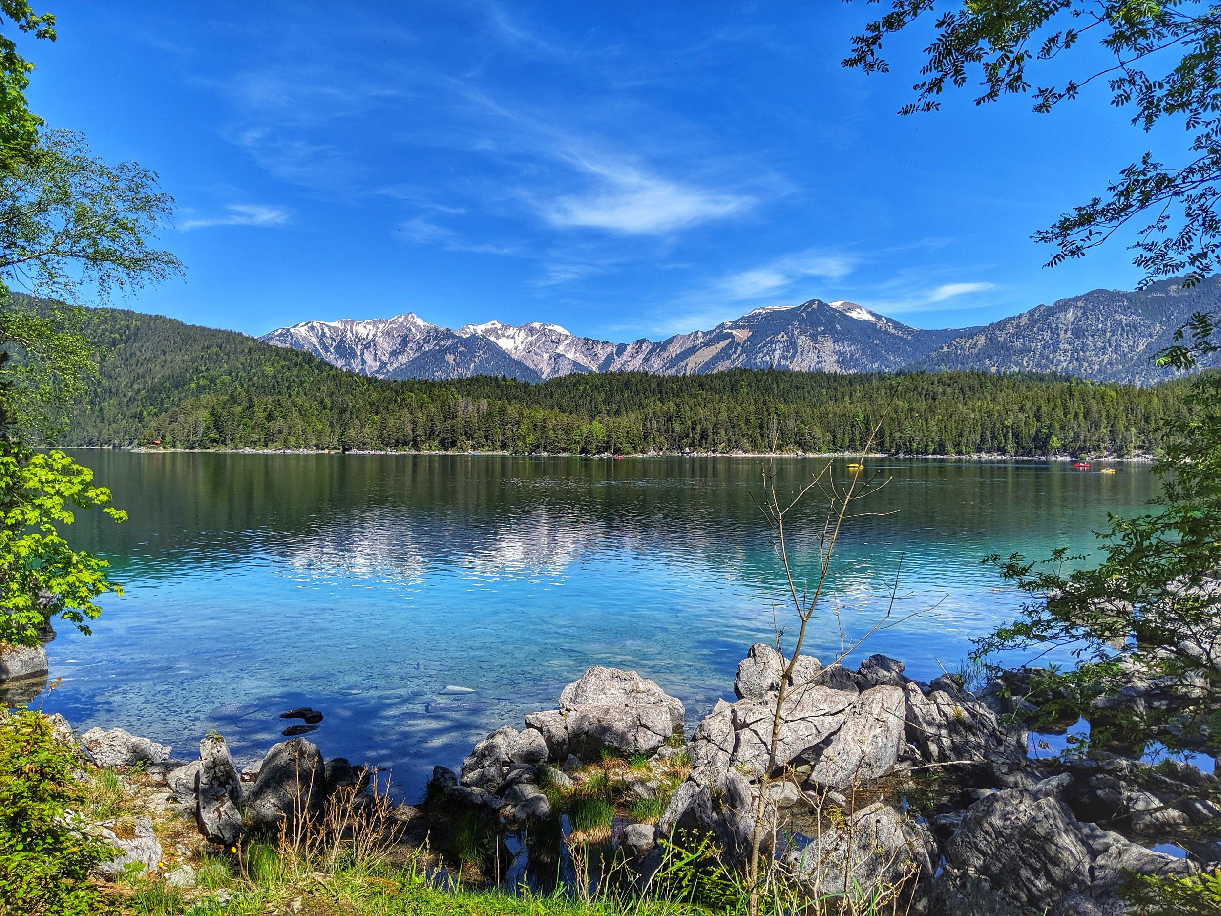 The views from all around Eibsee were wonderful