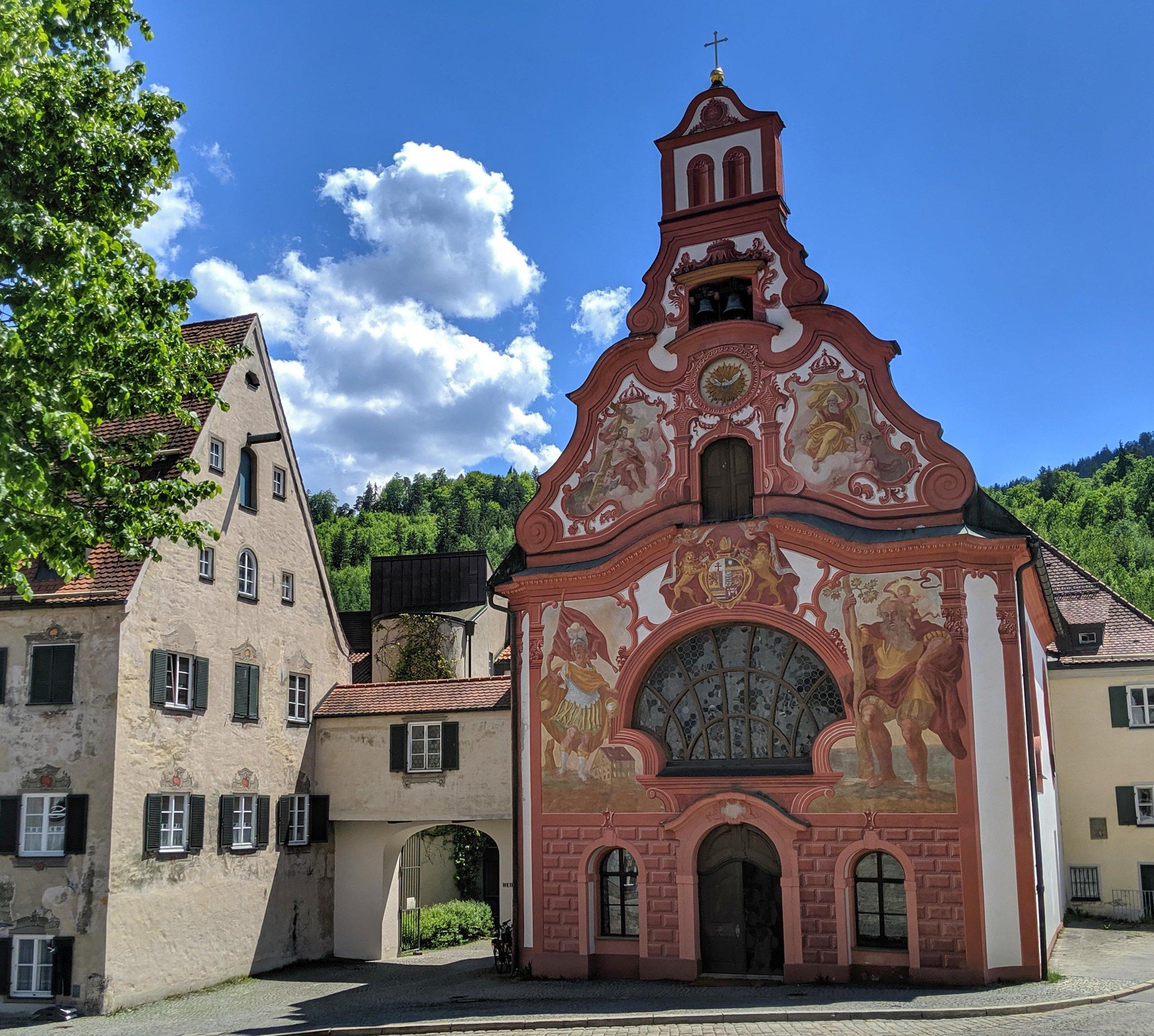 Pretty little church in Füssen