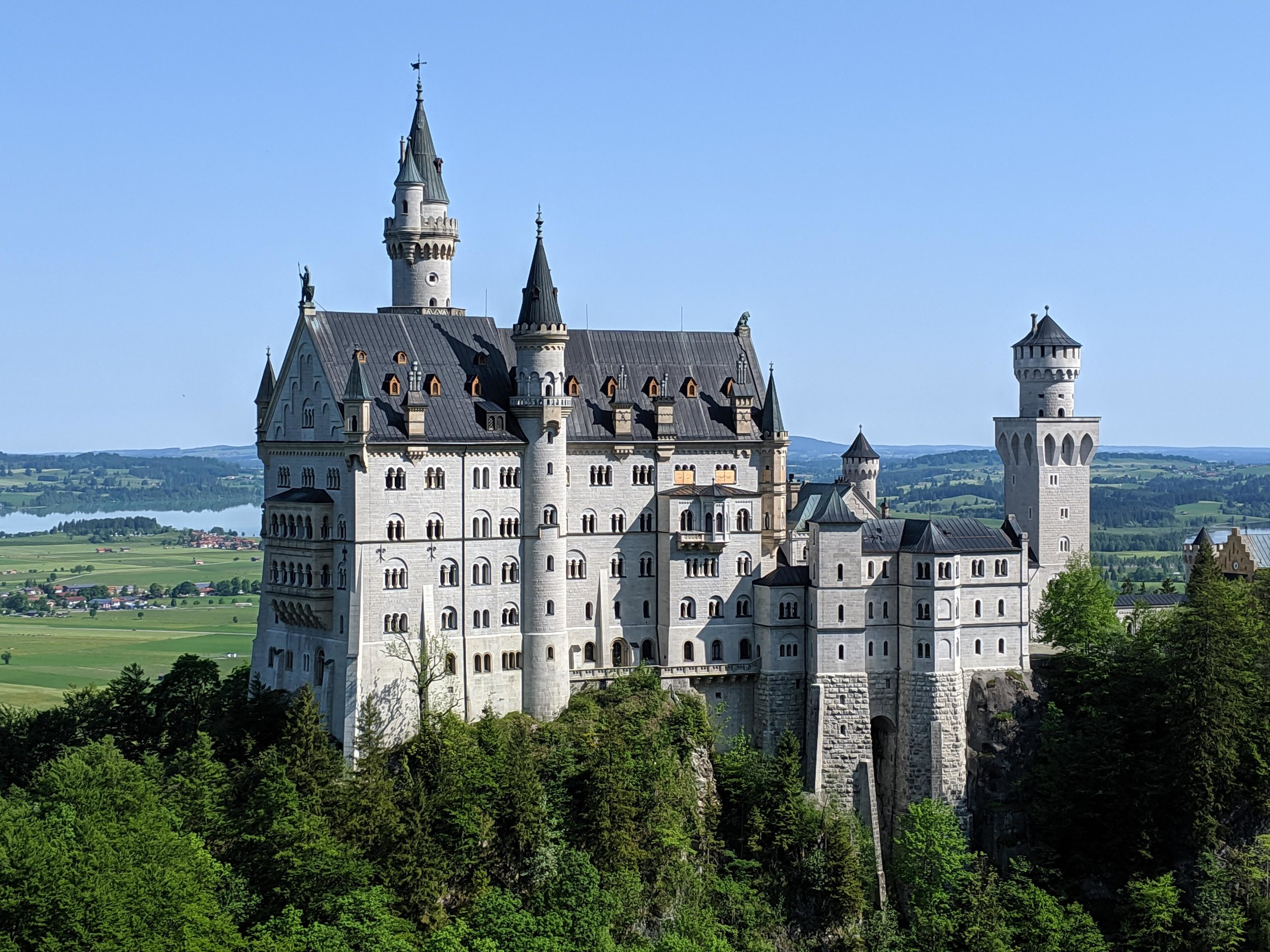 The unmistakable Neuschwanstein Castle