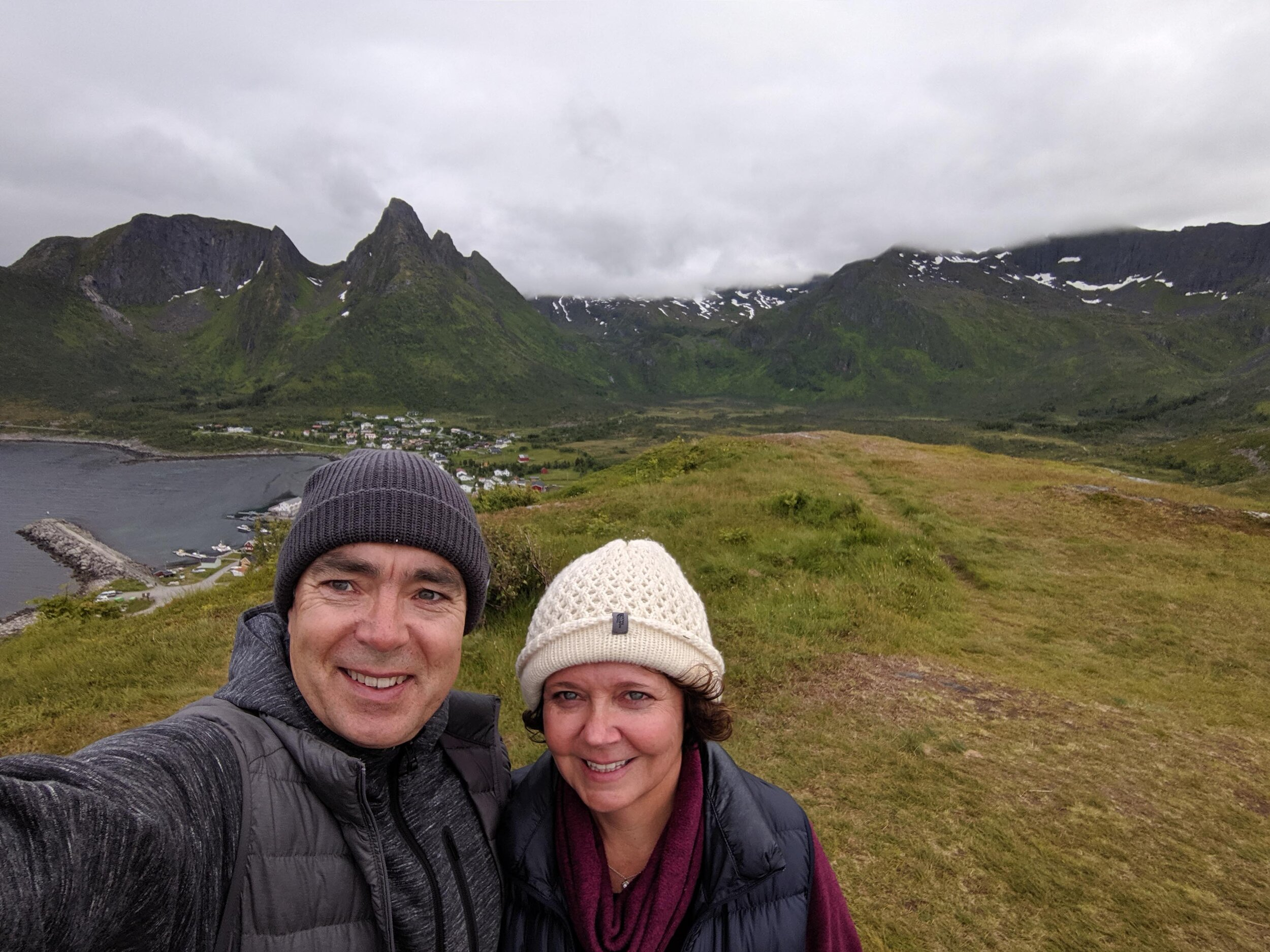 Braving the cold and wet to get some better views at Mefjord