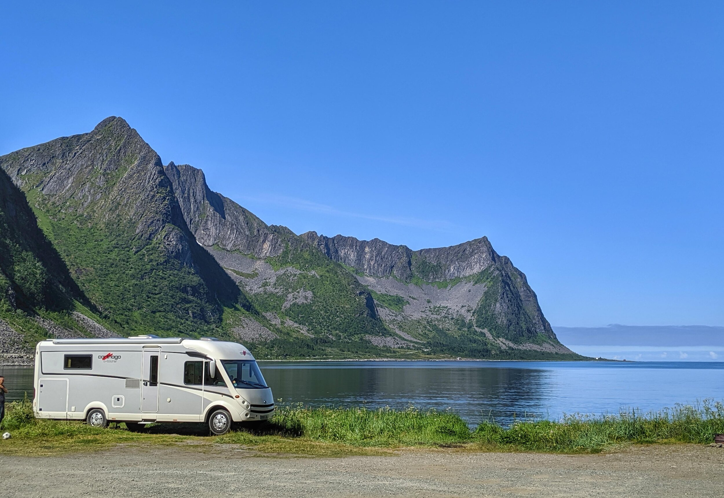 Our fantastic parking spot at Steinfjord