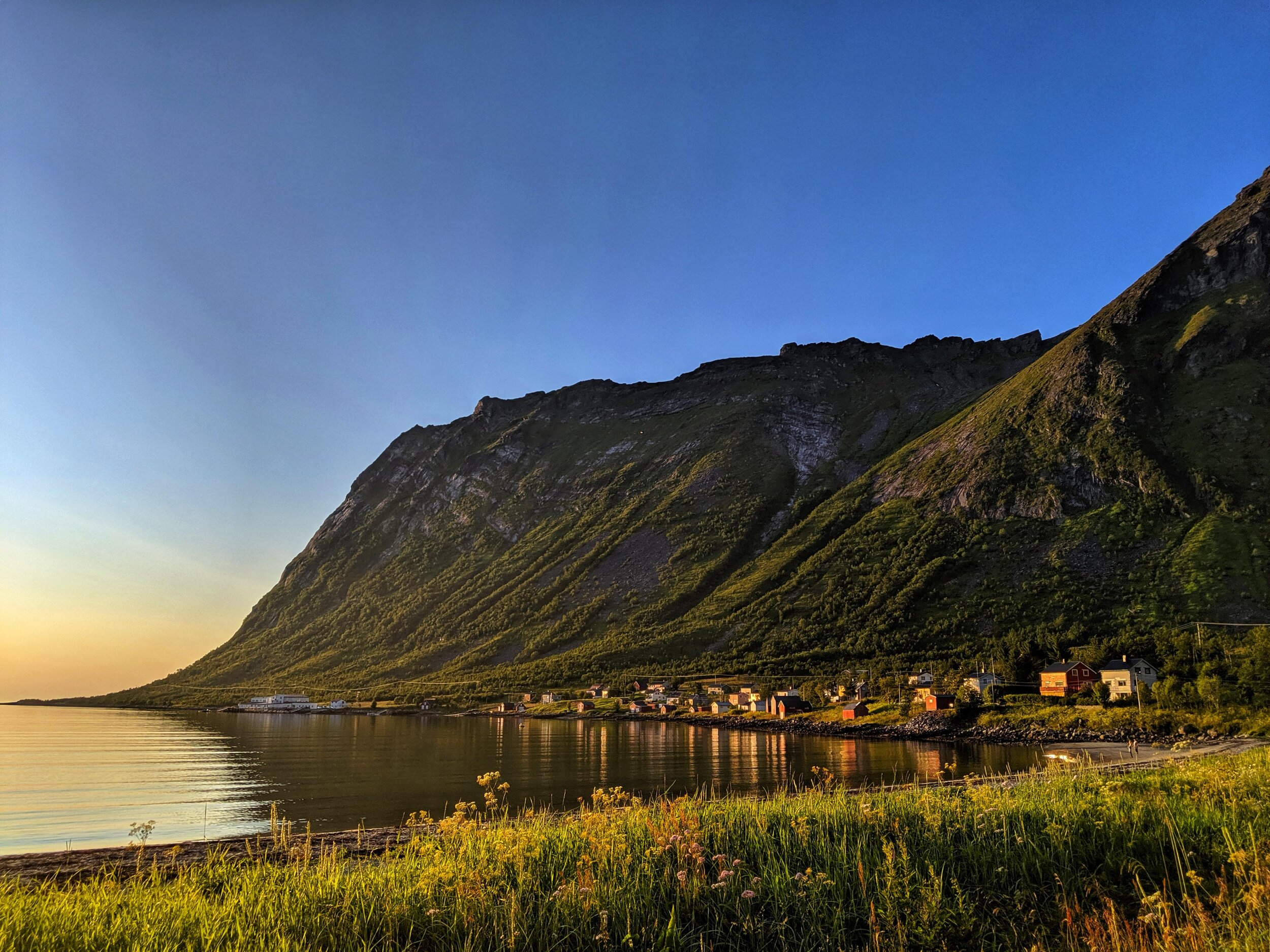The fjord at midnight