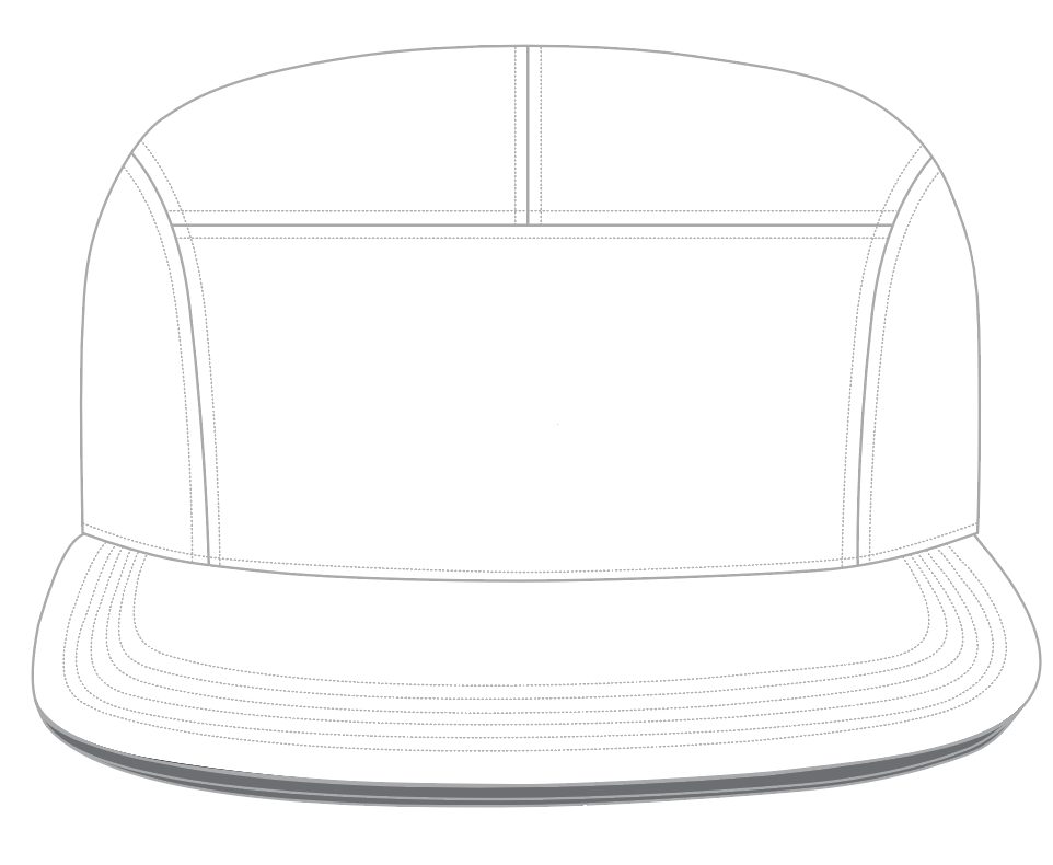 Camp Hat Templates - 5-Panel Camp Hat