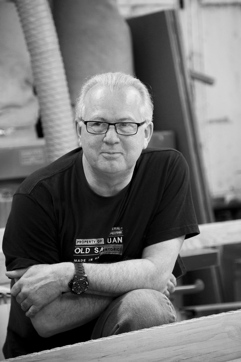 steve byfield | master craftsman   steve has been in this business for more years than he dares say. what we can say is that his knowledge of furniture making is encyclopedic. steve mentors our more junior craftsmen and makes a killer cup of tea.