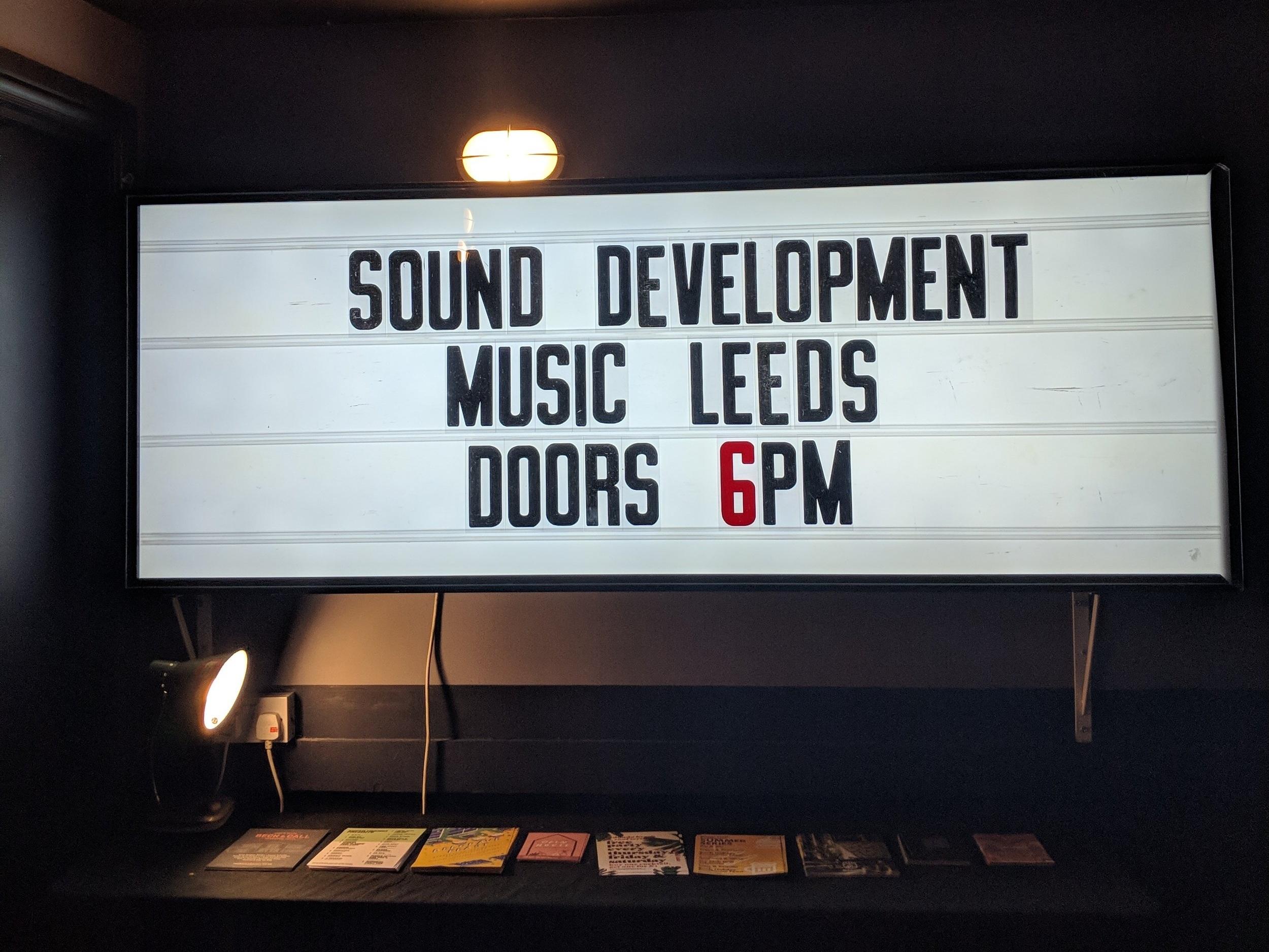 Sound Development Leeds - June 2019