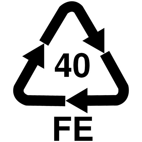 recyclable steel marking