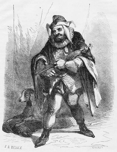 """Victor Hugo's character """"Triboulet"""" on whom the character of Rigoletto is based."""
