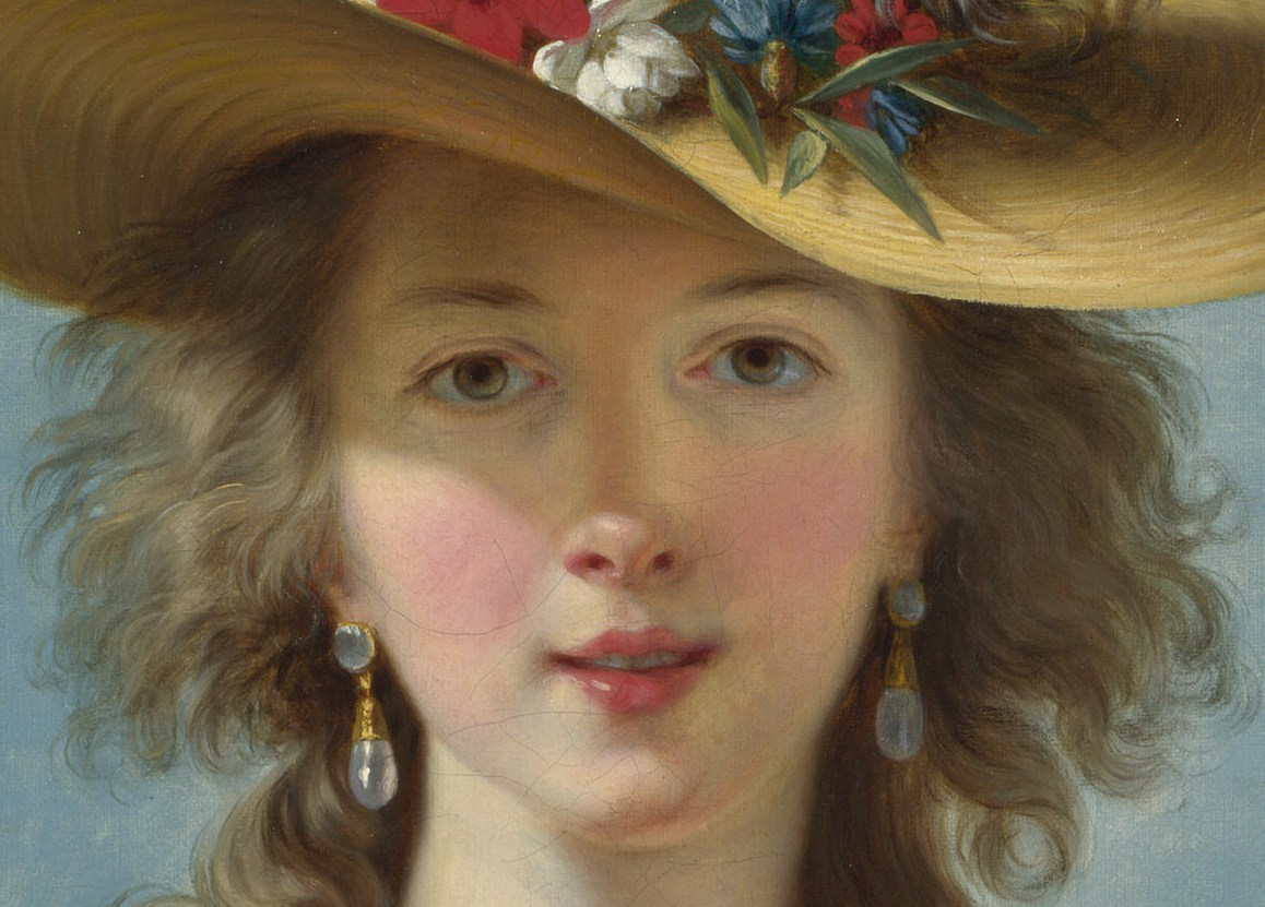 """Self-portrait"" (detail) by Elisabeth Vigée Le Brun"