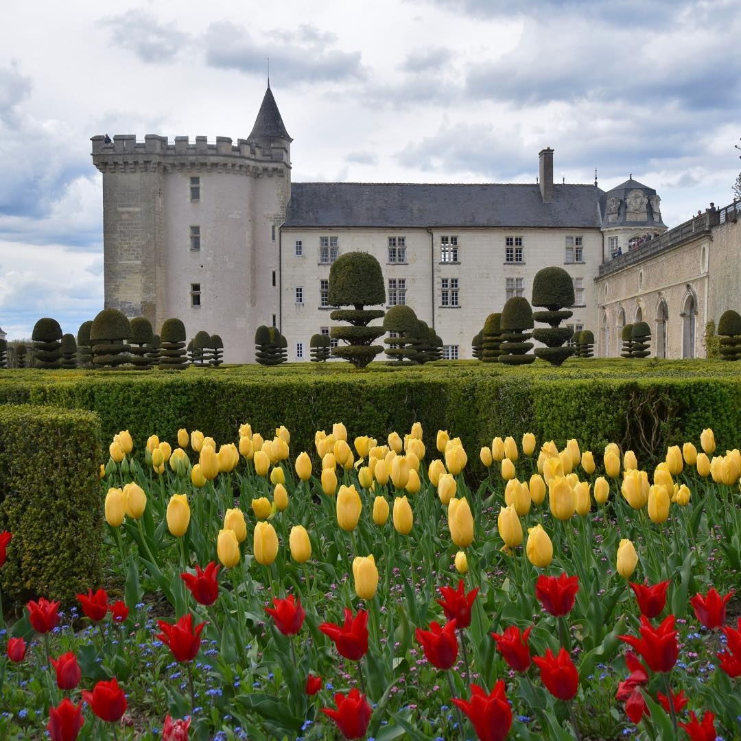 Spring at Chateau Villandry in the Loire Valley