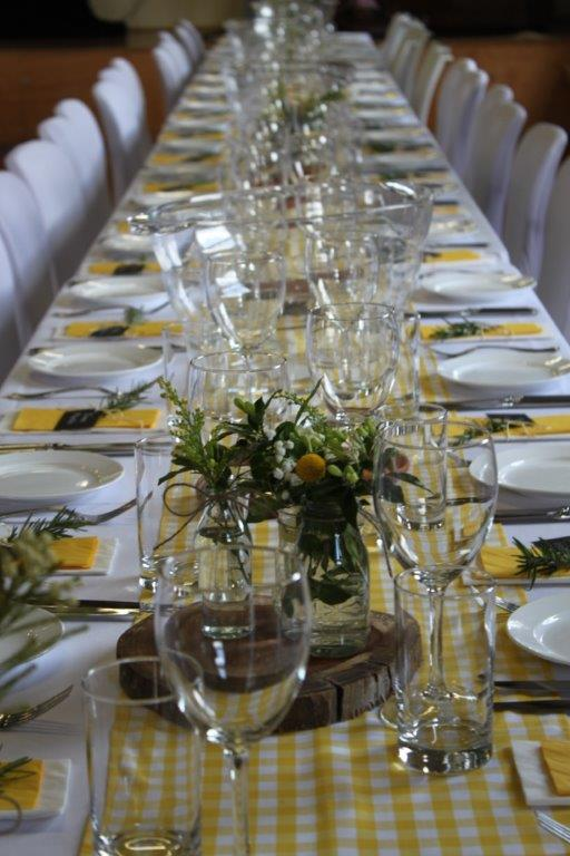 wedding event table setting