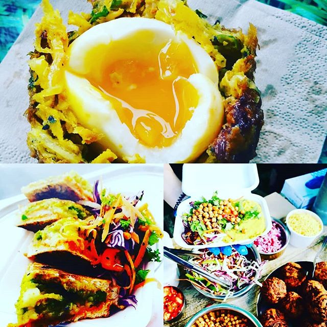 You can catch us today at @tfsundaymarket until 2.30pm with all the good stuff including #mumbaitossties and our infamous #onionbhajiscotcheggs  Our little shsck @wappingwharf is also open from 12-4pm for 100% plant based deliciousness  #gopalscurryshack #veggie #vegetarian #vegan #tfsundaymarket #streetfood #bristolfoodies #bristol247 #bristoleats #sunday #brunch #wappingwharfbristol #curry #,spice #vegetables