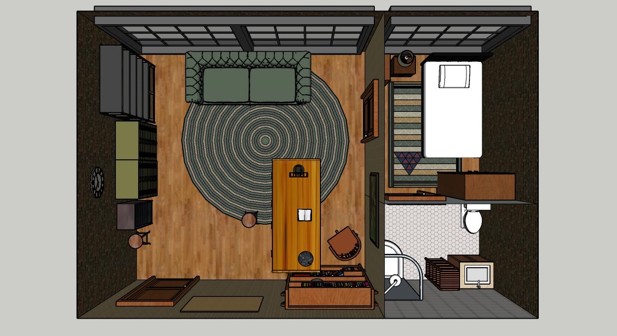 Detective Office - Sketchup Models