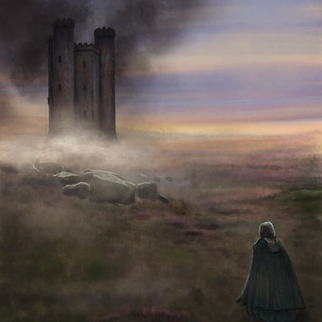 Sophie approaching the castle. My favourite scene from my favourite book #howlsmovingcastle #dianawynnejones #illustration #howlsmovingcastlebook #howlsmovingcastlefanart