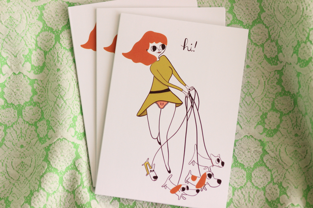 Dog Lady Greeting Card by Beth Spencer Design on Etsy