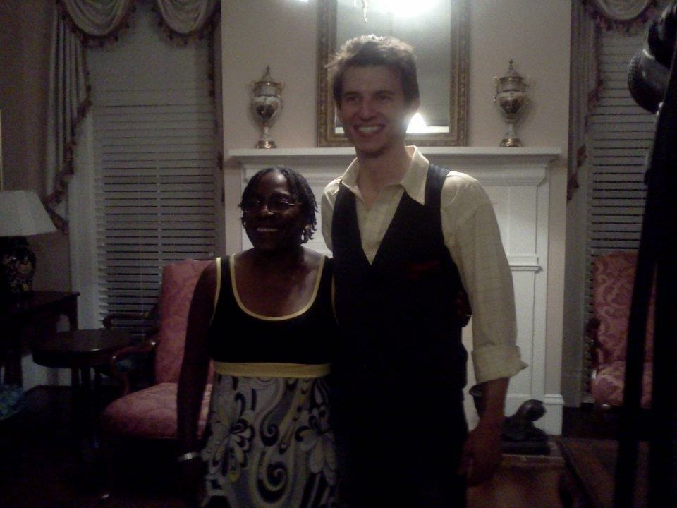 Sharon and I after a show of mine in North Augusta - Lookaway Hall - February 2012