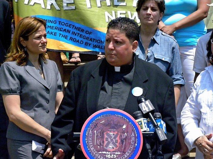 City Council Speaker Melissa Mark-Viverito and Rev. Carmen