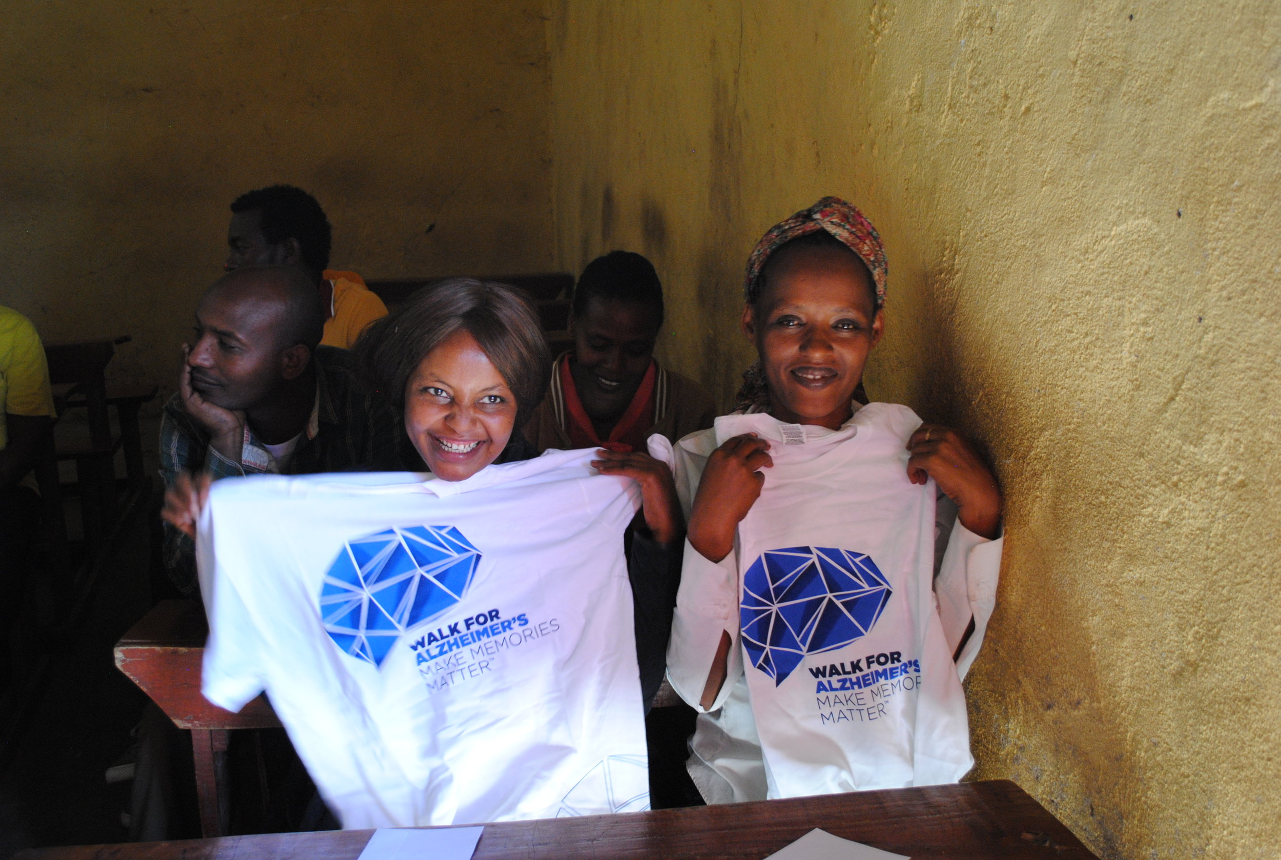 MWAHFE volunteers handed out clothing to the teachers at Gallo Shanto school in 2017.