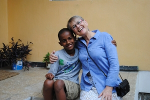 Yabi and Val at the group home near Addis. Check out those smiles!