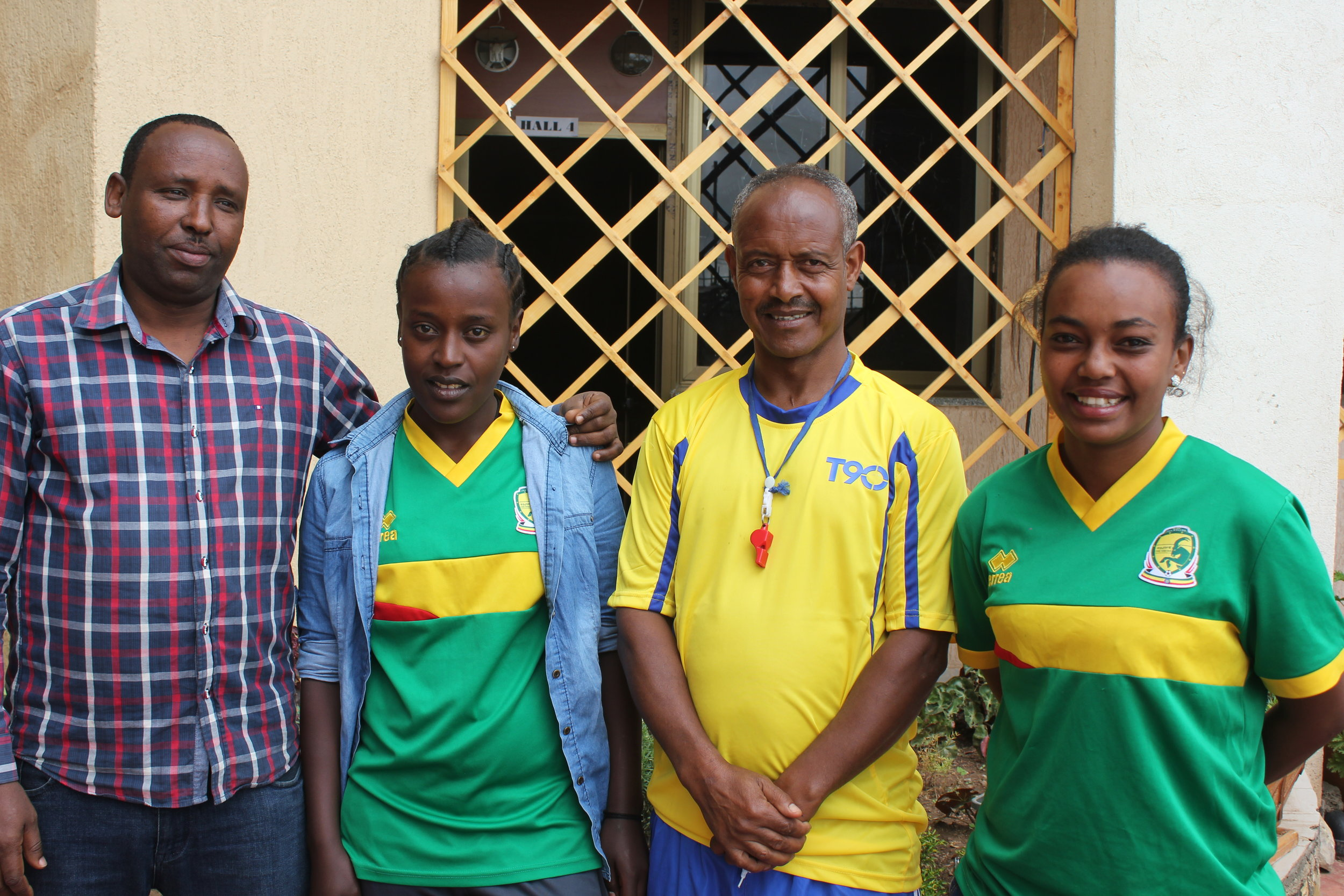 Coaches Jemal, Gelaye, Kaza and Sarah (from left to right).