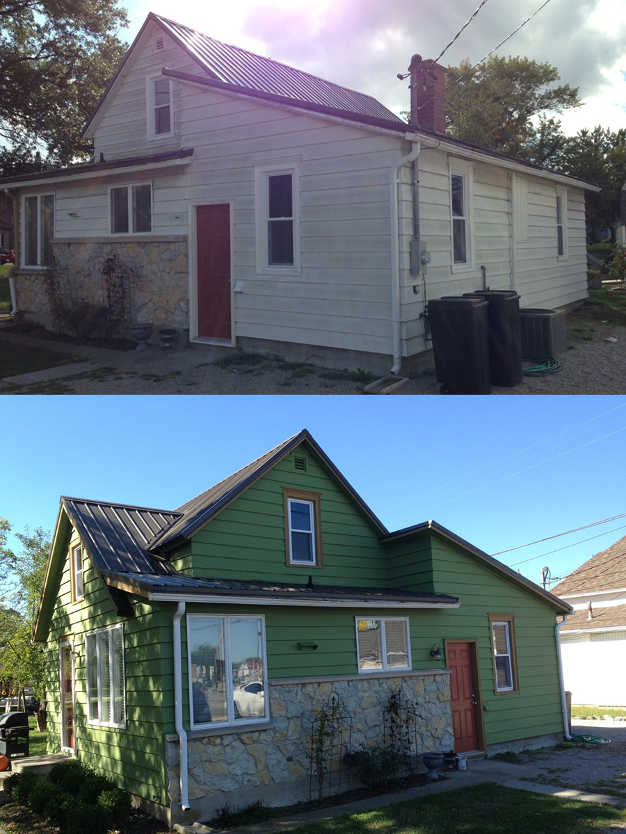 Exterior Residential Before and After