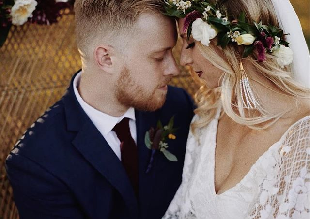 Watch Caity + Will's bohemian inspired wedding - link in profile. . . . . Shot by: Seth Dunlap