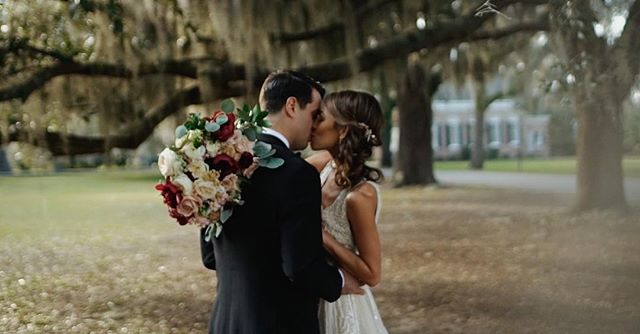 Here's a screen grab from Taylor + Anthony's December wedding.  Full video link in profile. . . . . Shot by: Kat Albanese