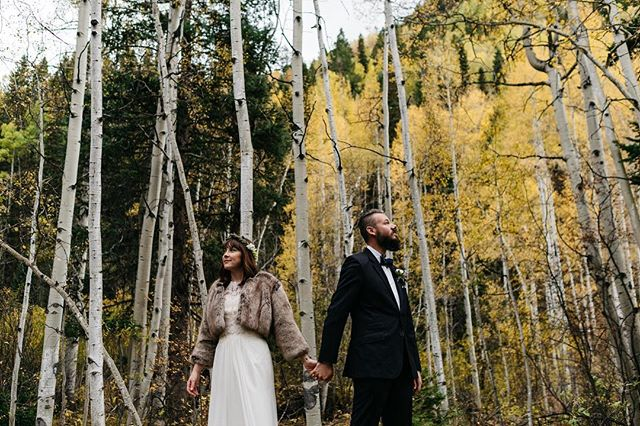 We loved capturing Rena + Ryan's elopement through photo and video. They chose the perfect time of year to elope in Telluride with those yellow pops of aspen. Video link in profile.