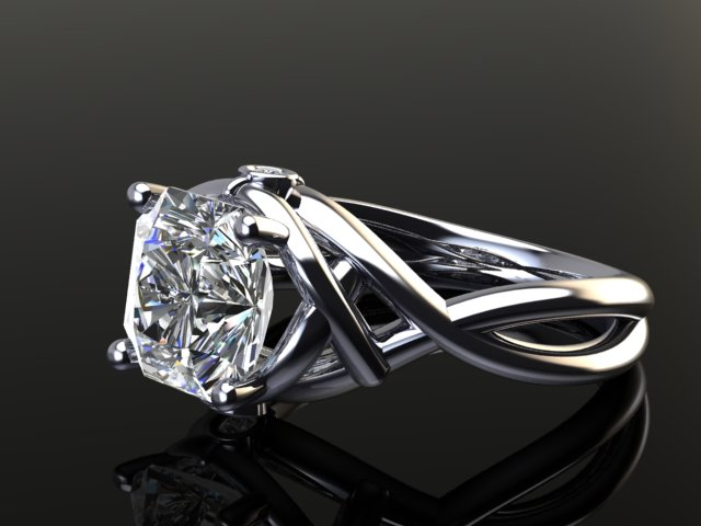 asher cut diamond engagement ring