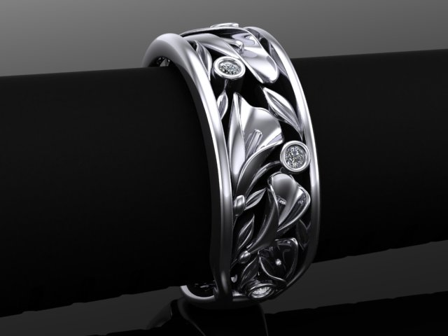 Calla lily wedding band