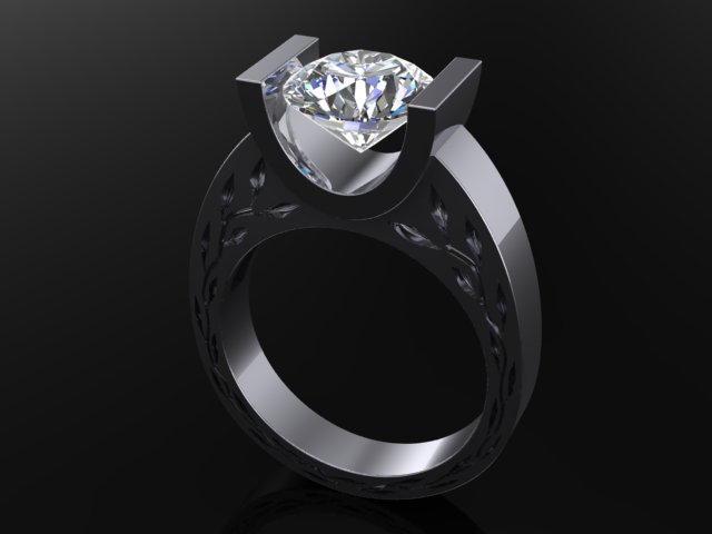 modern diamond ring