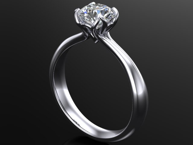 tulip style diamond ring